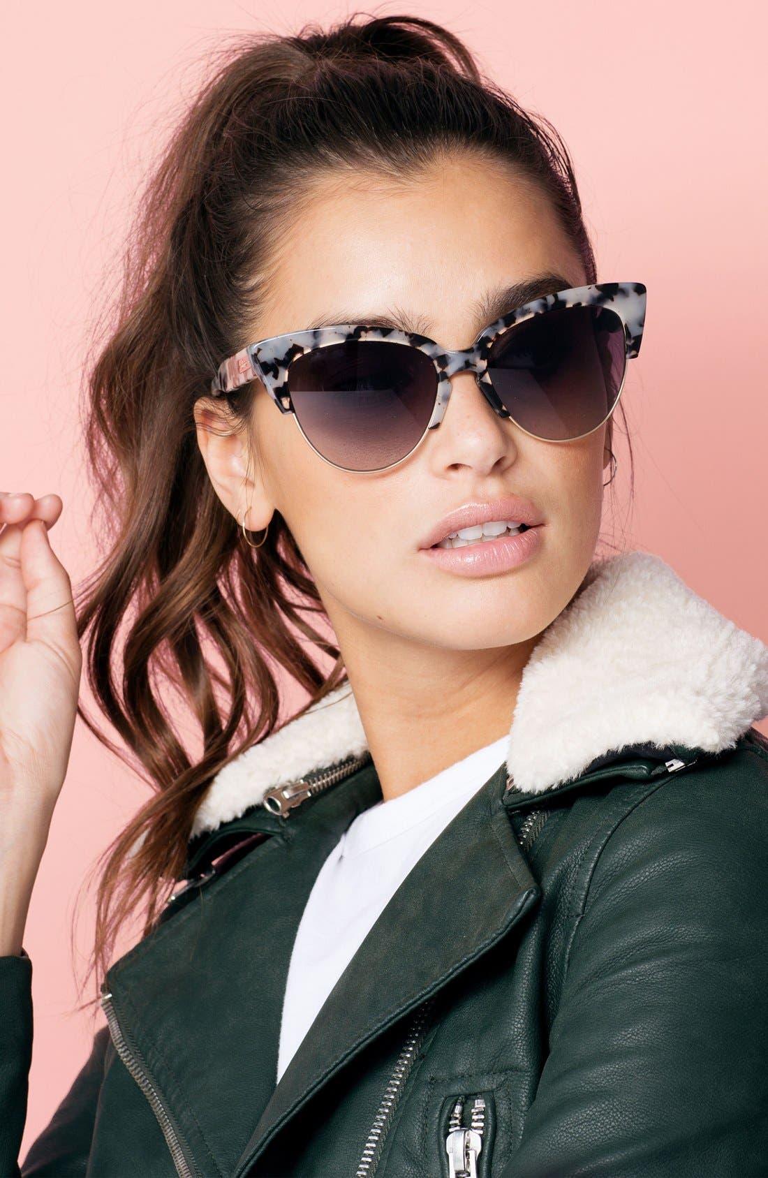 Dafni 56mm Gradient Cat Eye Sunglasses,                             Alternate thumbnail 11, color,