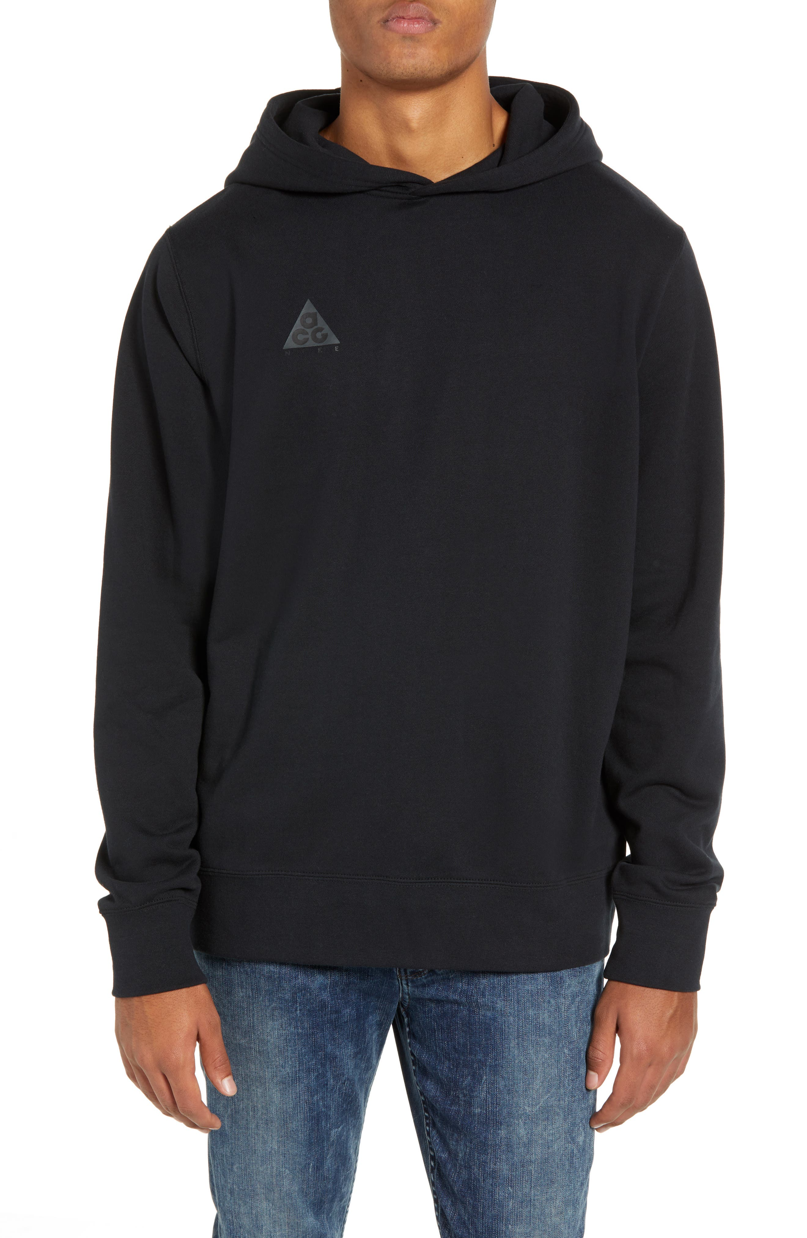 Sportswear ACG Pullover Hoodie,                             Main thumbnail 1, color,                             BLACK/ BLACK