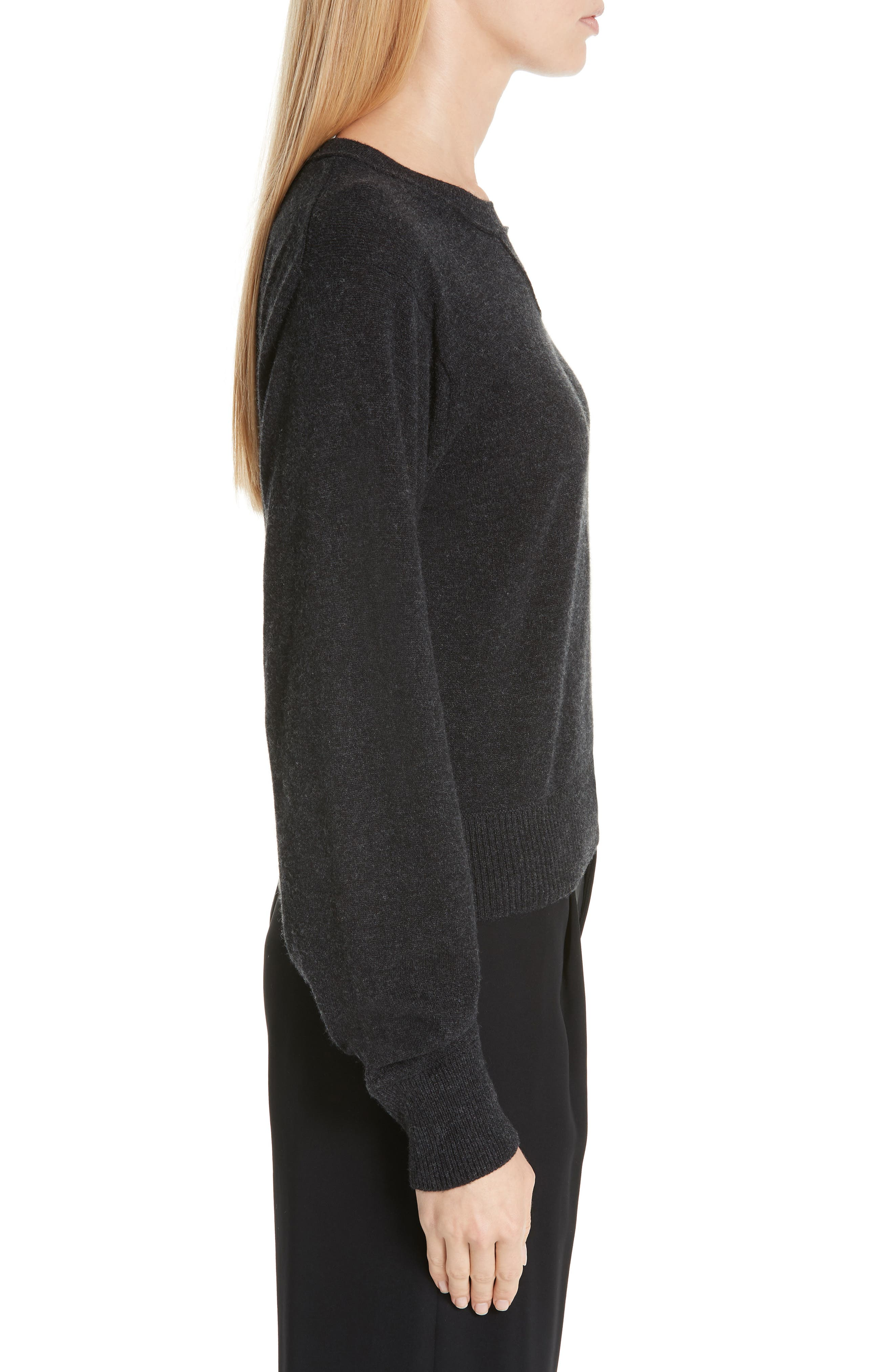 Wool & Cashmere Sweater,                             Alternate thumbnail 3, color,                             CHARCOAL