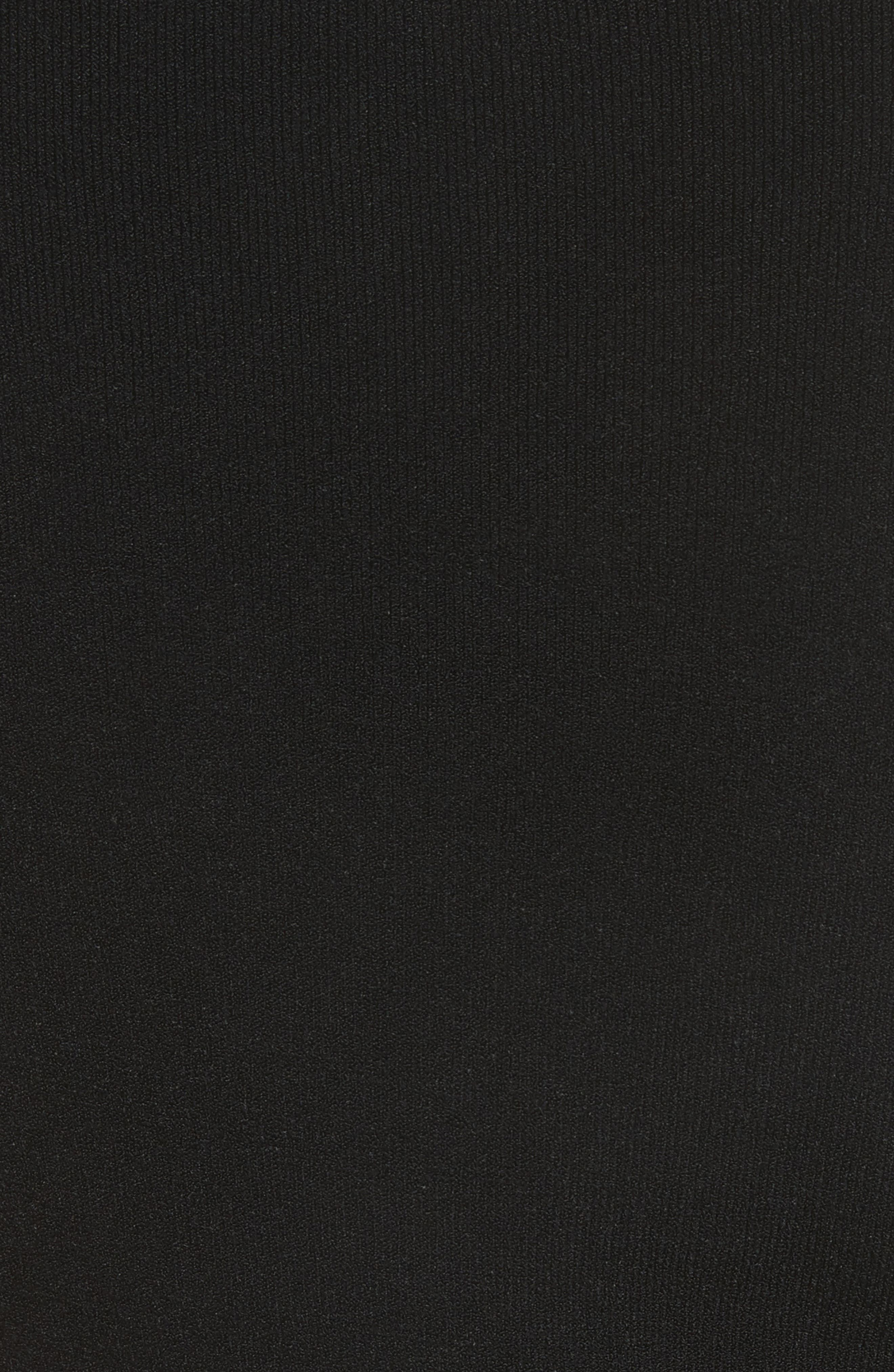 Ruched Midi Dress,                             Alternate thumbnail 5, color,                             001
