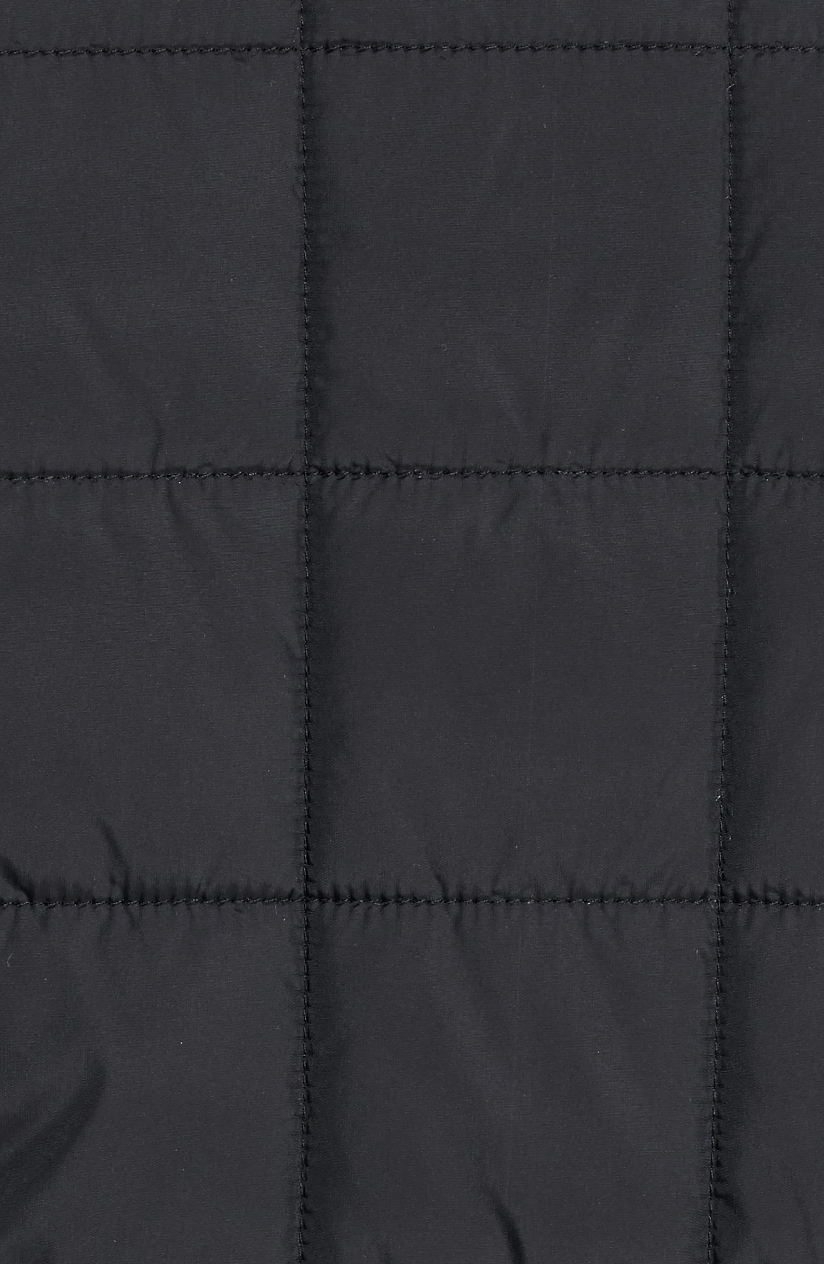 Lesta Quilted Slim Fit Jacket,                             Alternate thumbnail 7, color,                             BLACK