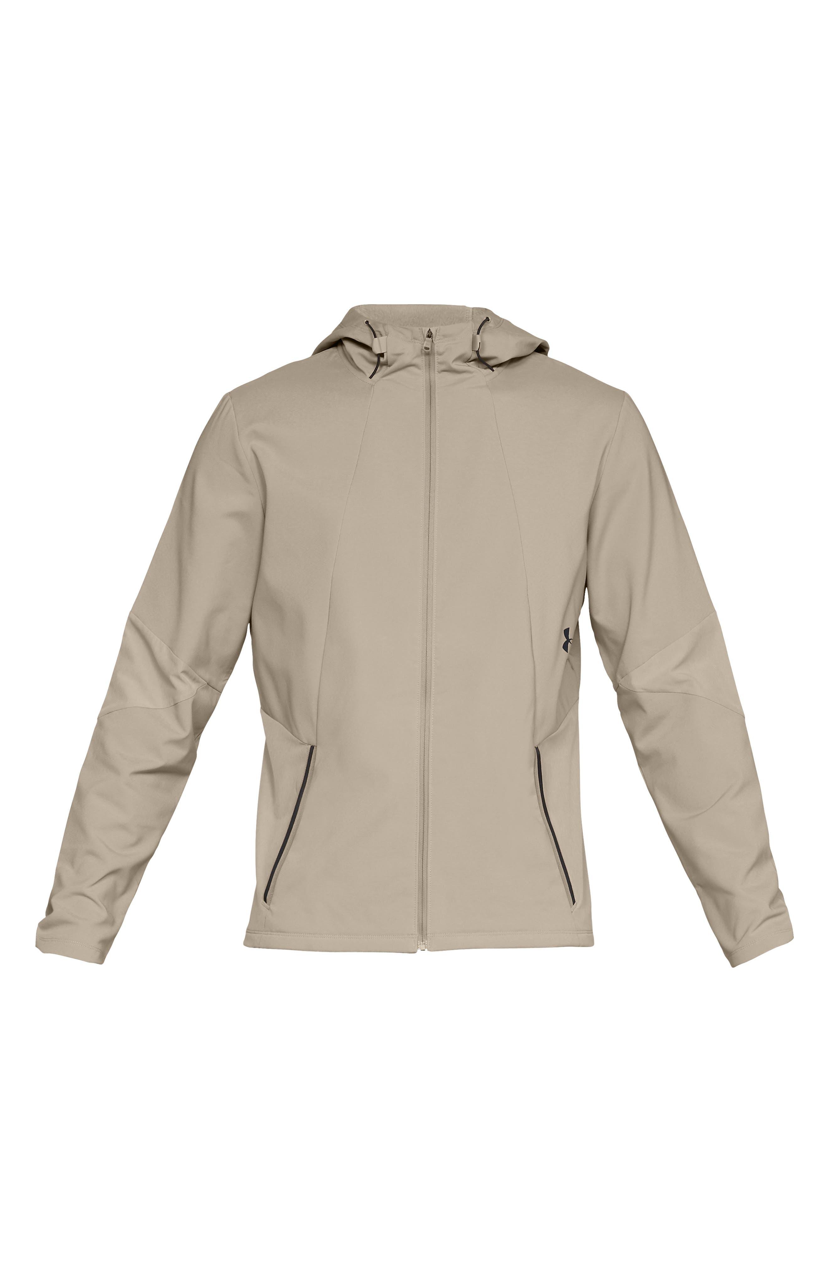 Storm Cyclone Water Repellent Hooded Jacket,                             Alternate thumbnail 6, color,                             CITY KHAKI/ BLACK