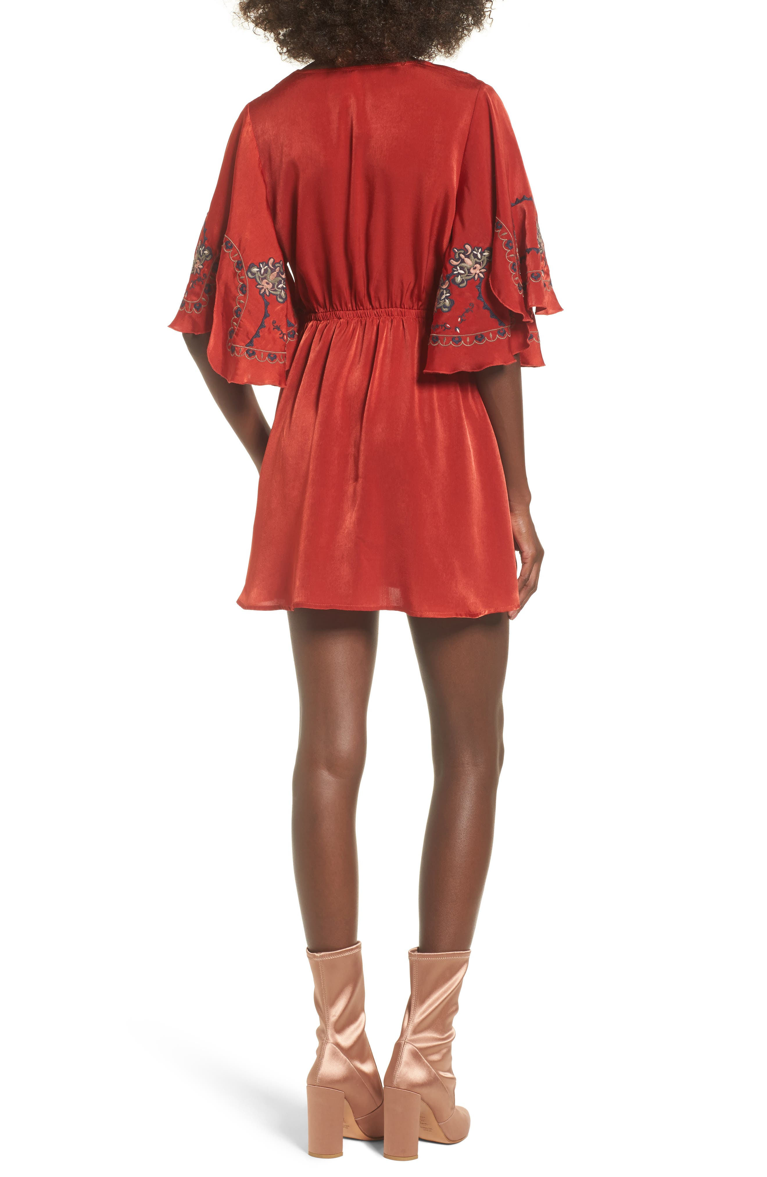 Embroidered Babydoll Dress,                             Alternate thumbnail 2, color,                             650
