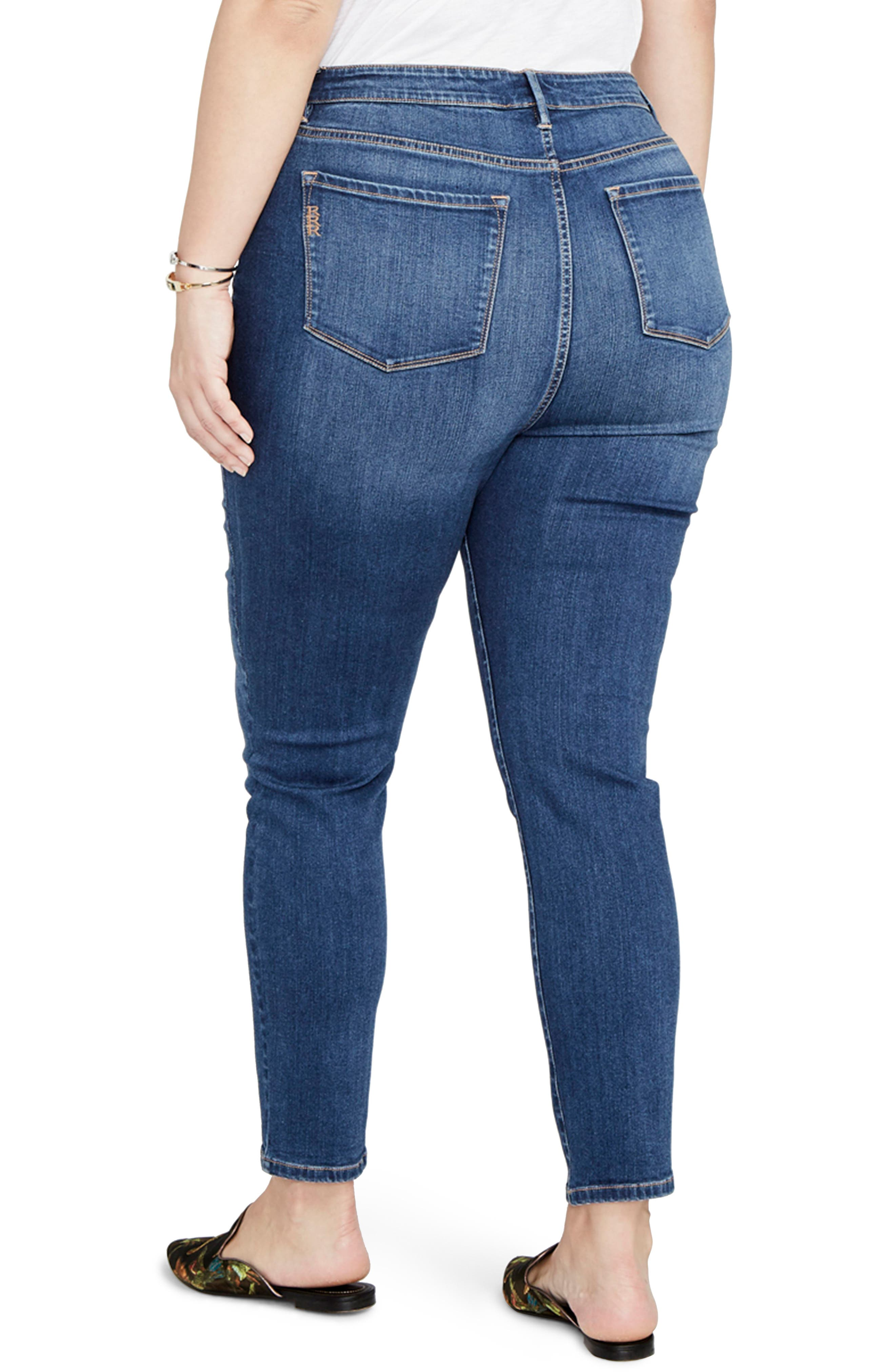 Curvy High Rise Skinny Jeans,                             Alternate thumbnail 2, color,