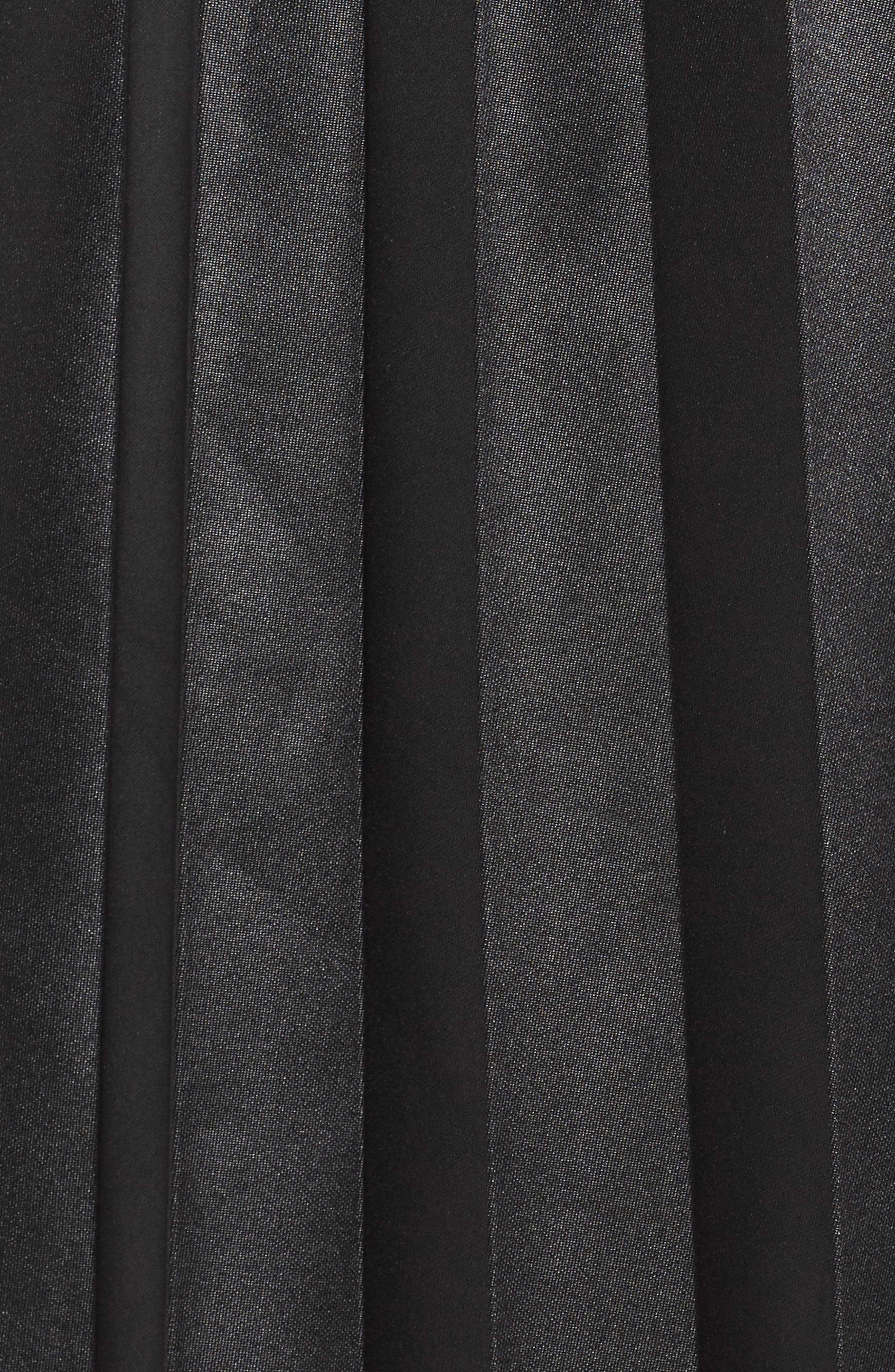 Coated Jersey Pleated Skirt,                             Alternate thumbnail 5, color,                             001
