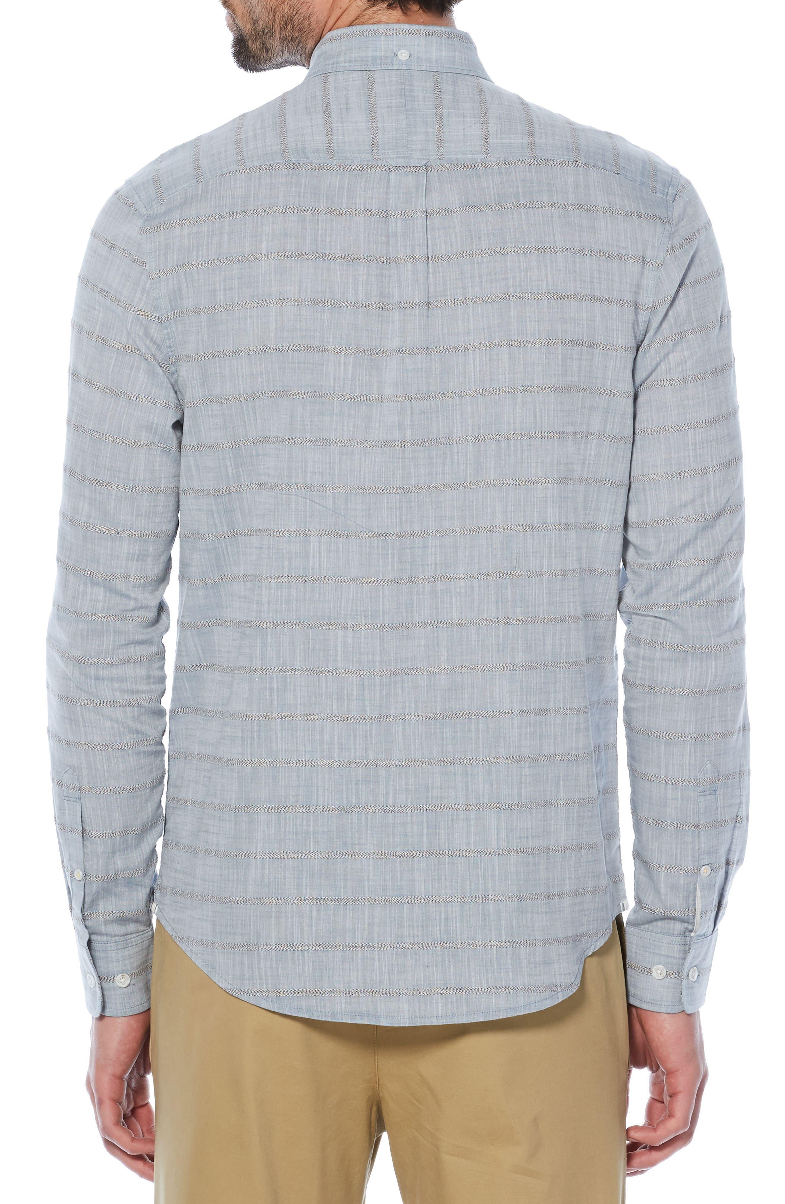 Stripe Slub Chambray Shirt,                             Alternate thumbnail 2, color,                             400