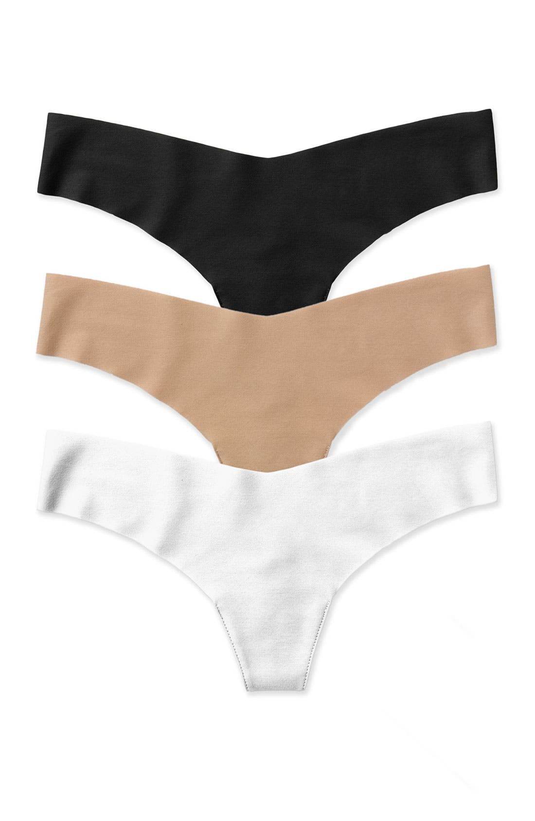 Cotton Thong,                             Alternate thumbnail 5, color,                             BLACK