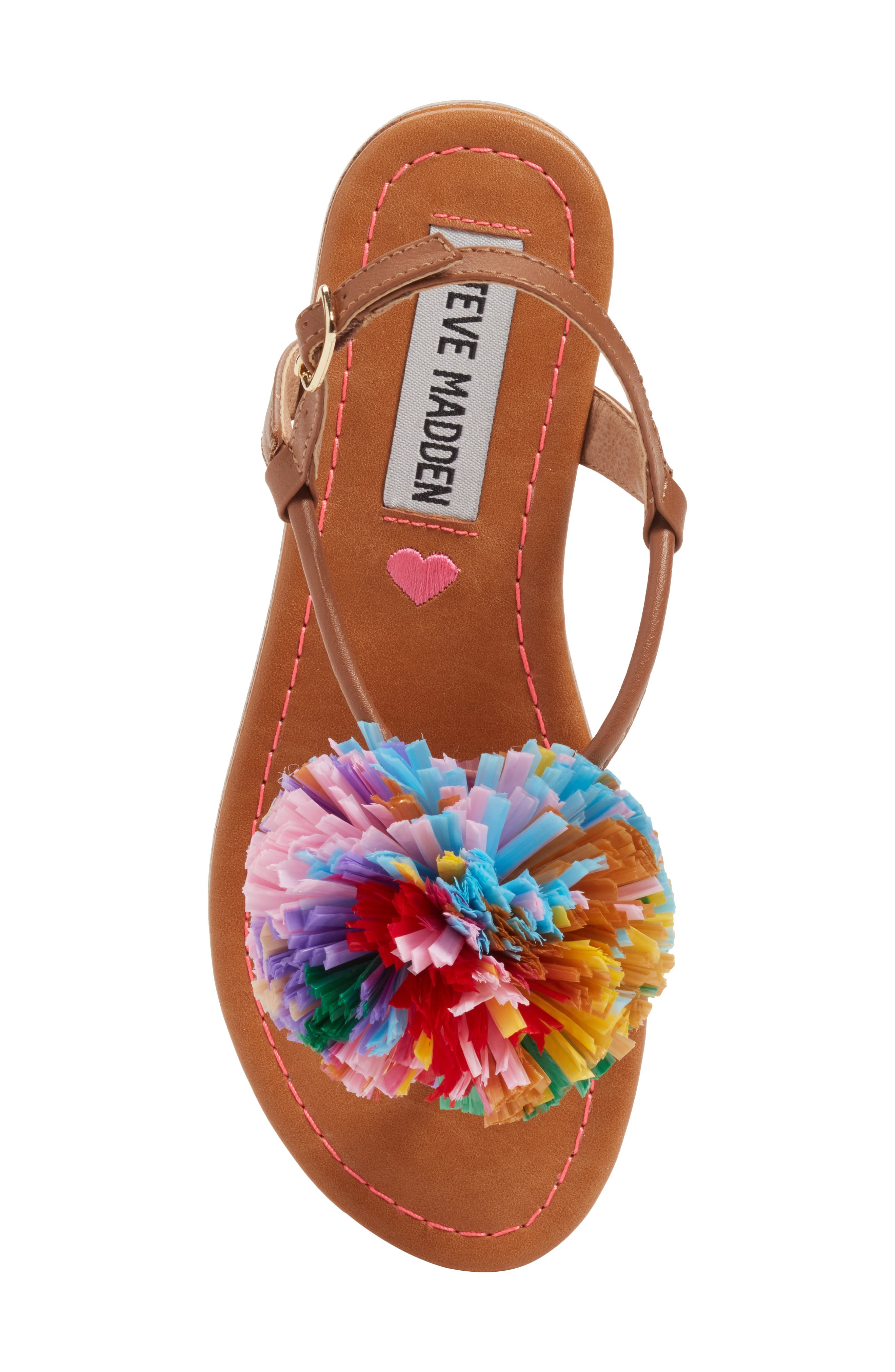 JCherry Pompom Sandal,                             Alternate thumbnail 5, color,