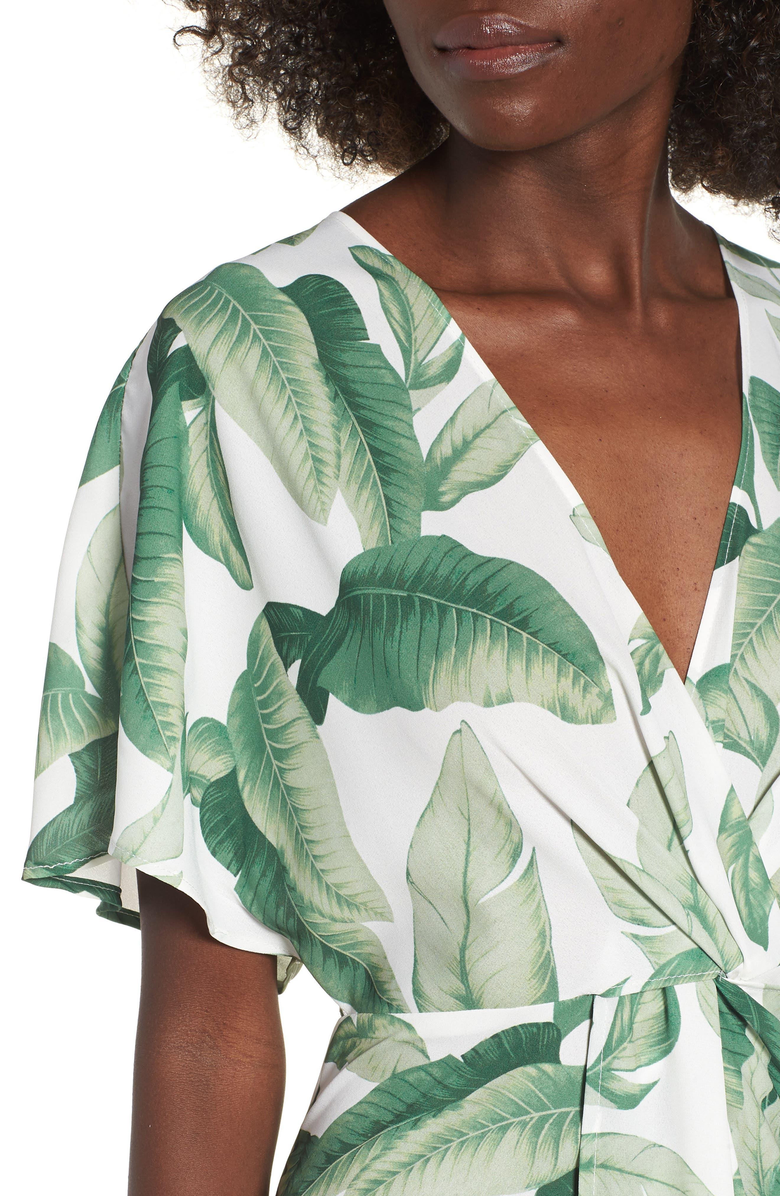 Print Maxi Dress,                             Alternate thumbnail 4, color,                             300