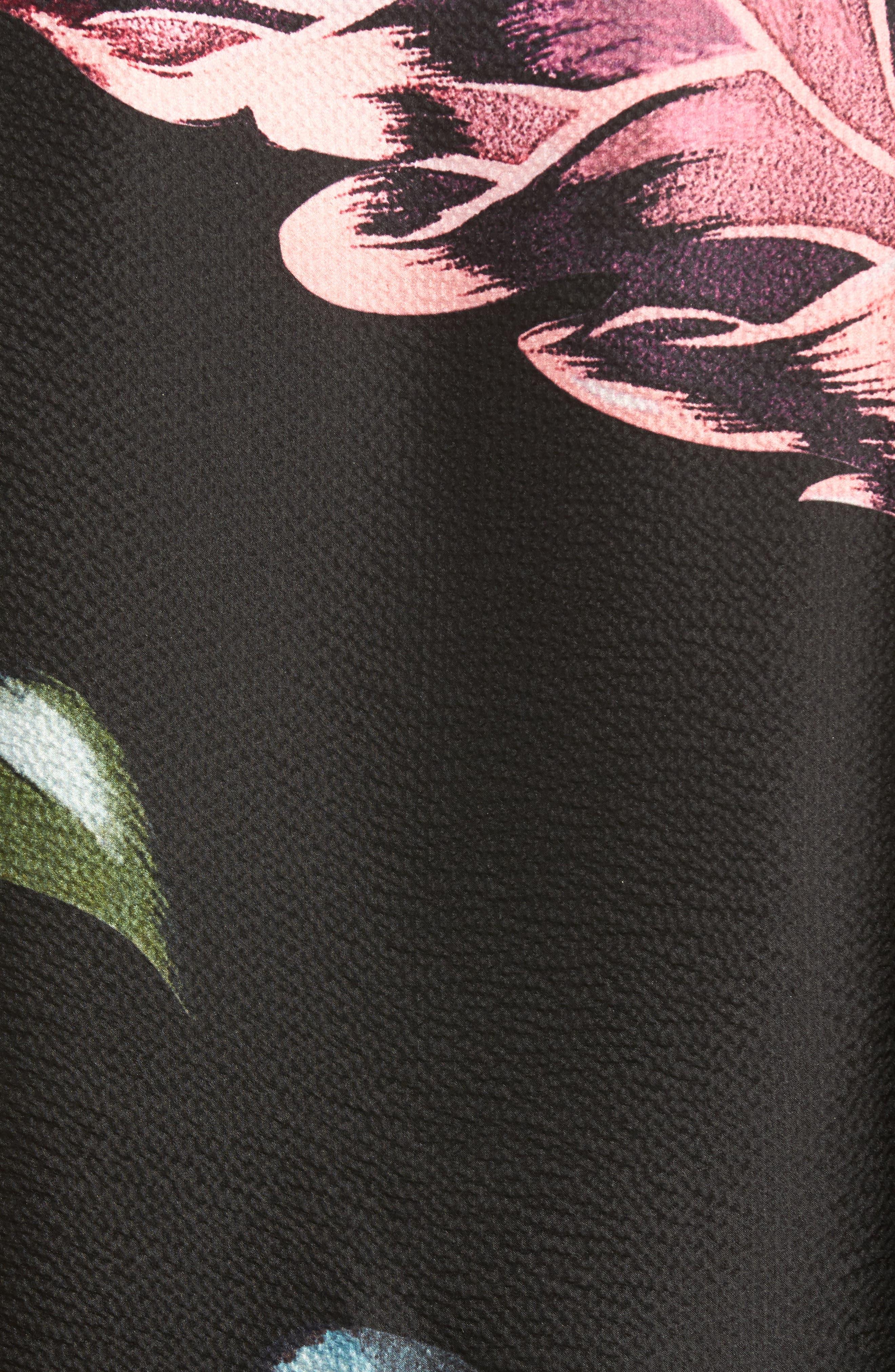 Eden Silk Cape Scarf,                             Alternate thumbnail 5, color,                             001