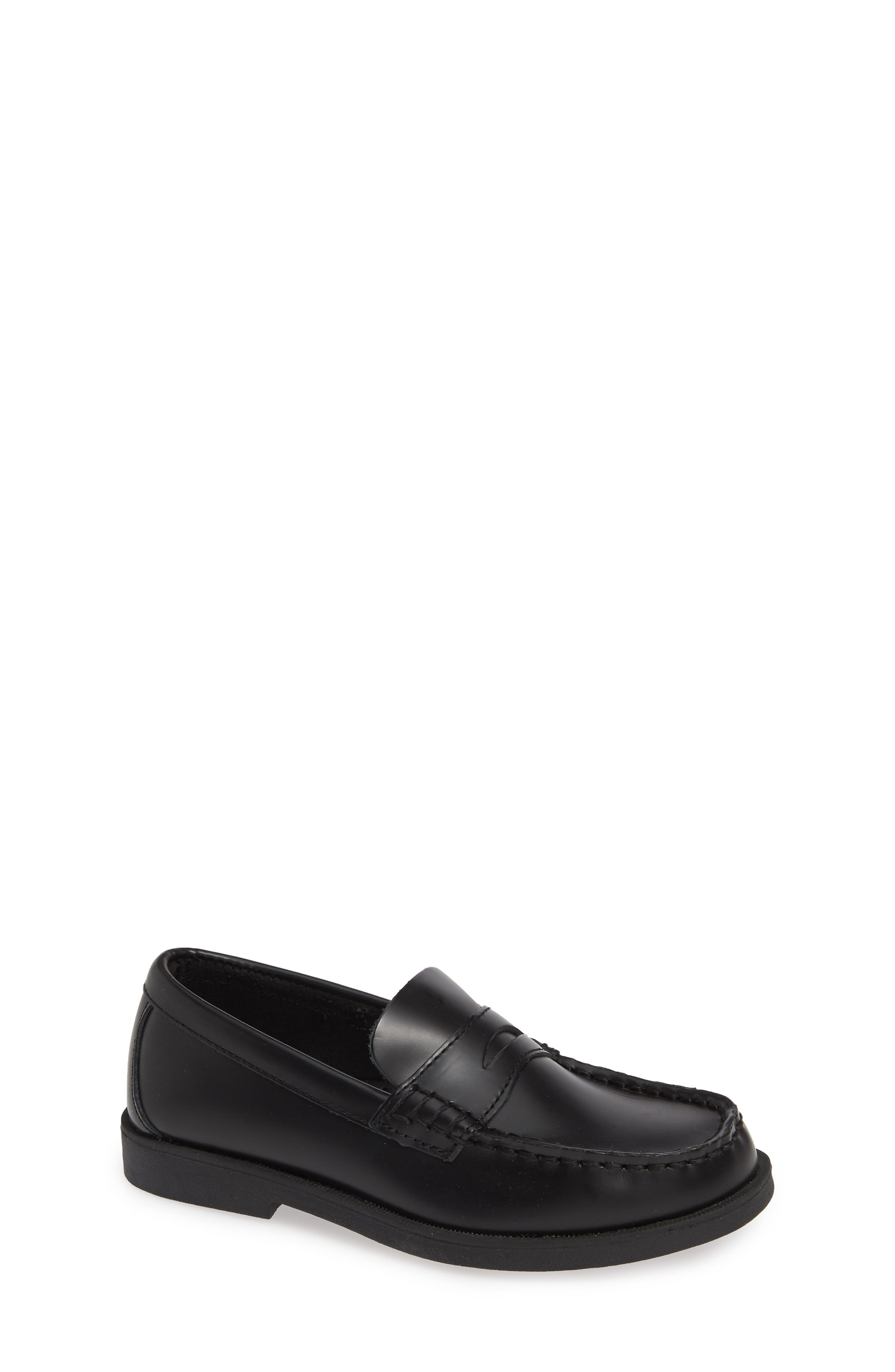 SPERRY KIDS,                             'Colton' Loafer,                             Alternate thumbnail 2, color,                             BLACK LEATHER