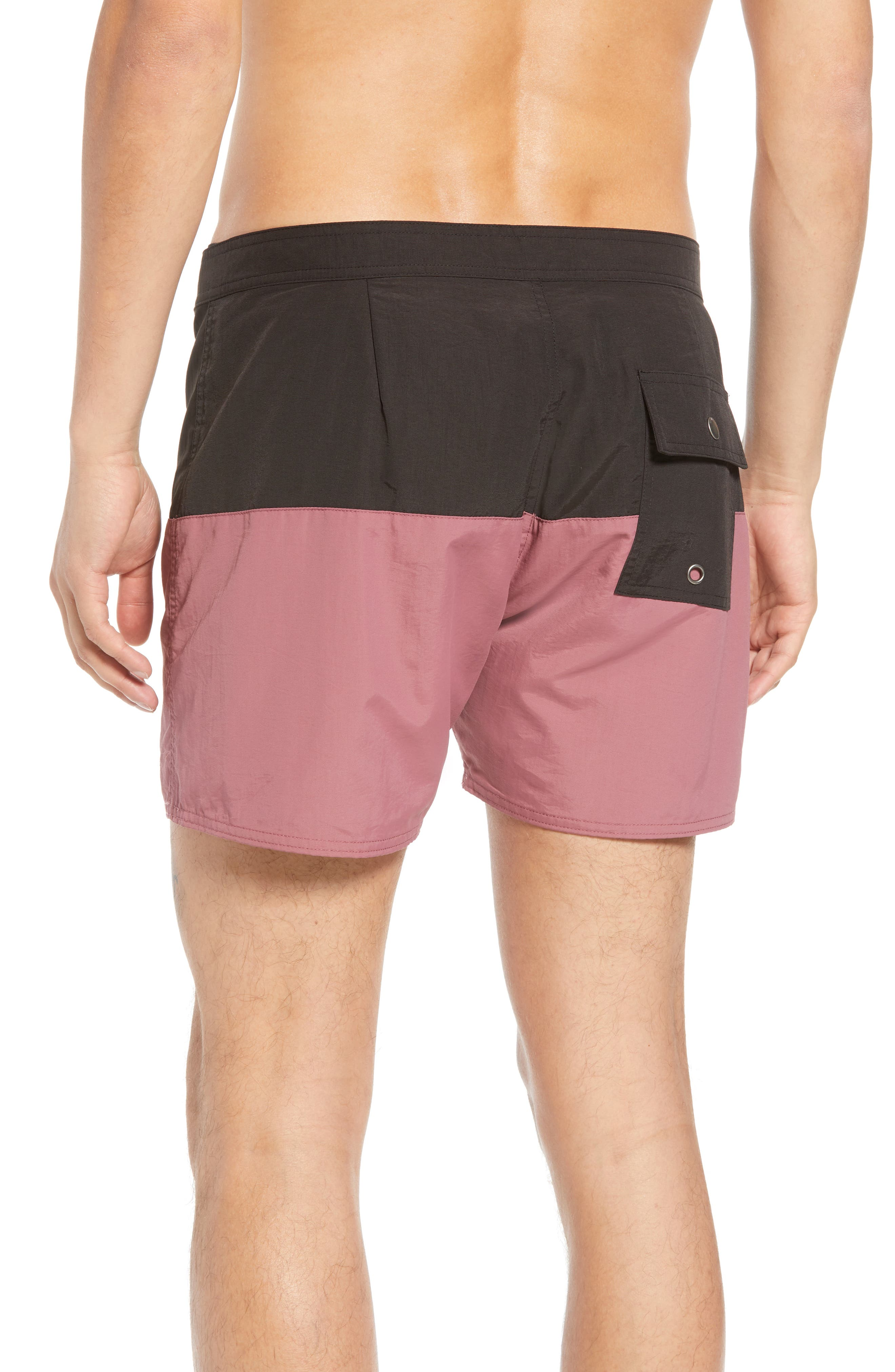 Ennis Colorblock Swim Trunks,                             Alternate thumbnail 2, color,                             001