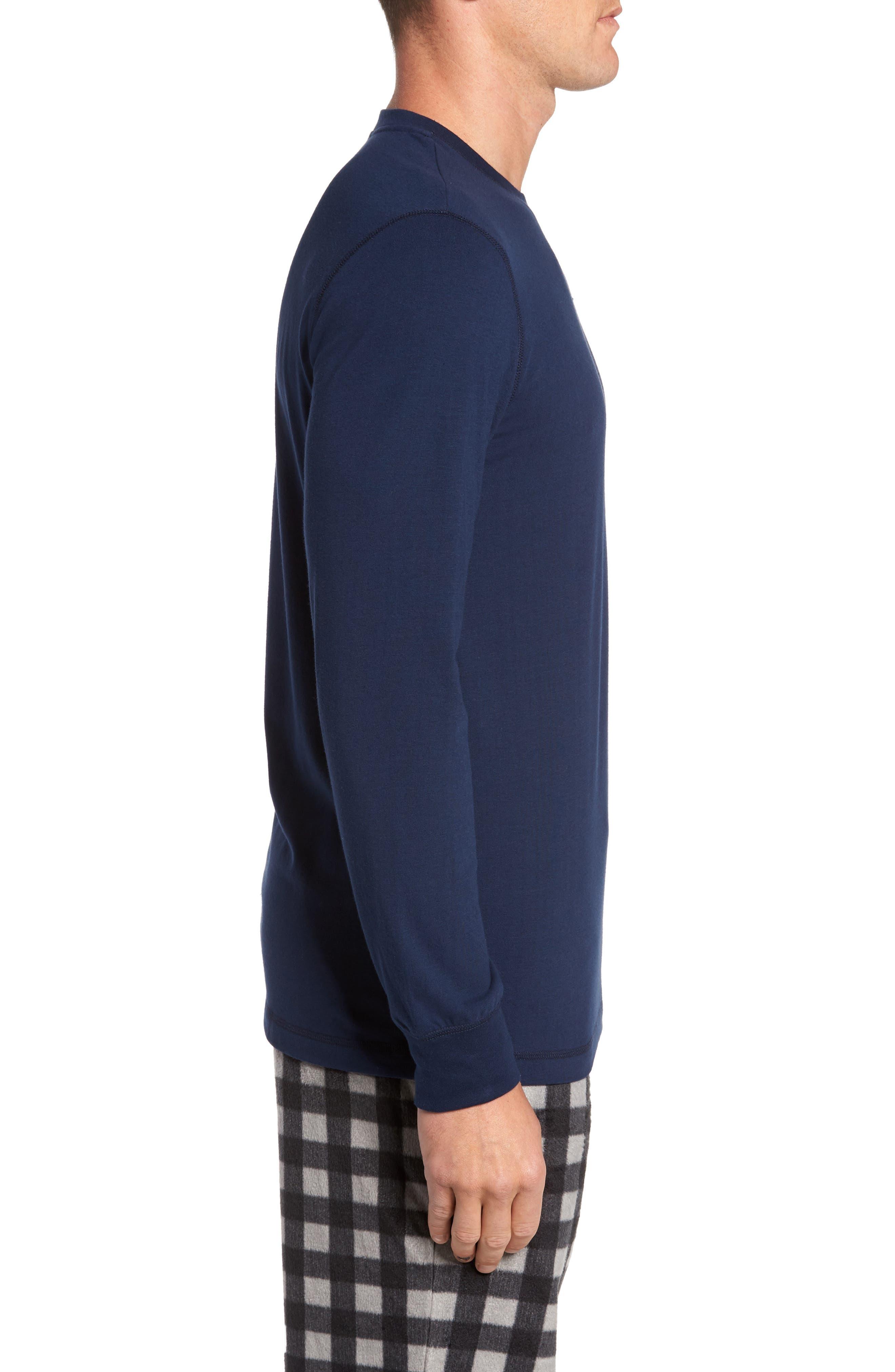 Stretch Cotton Long Sleeve T-Shirt,                             Alternate thumbnail 12, color,