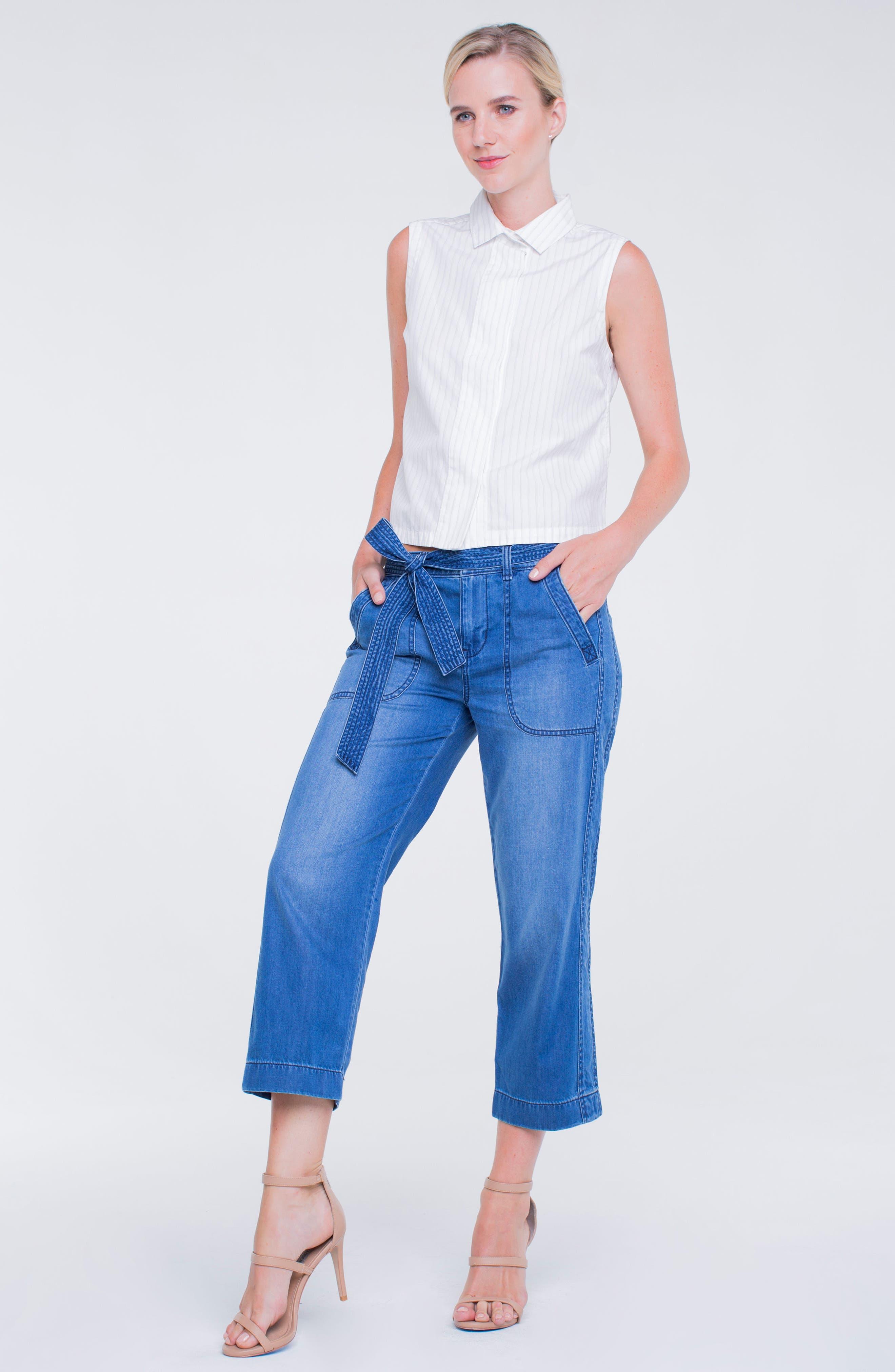 Norah Capri Jeans,                             Alternate thumbnail 5, color,                             408