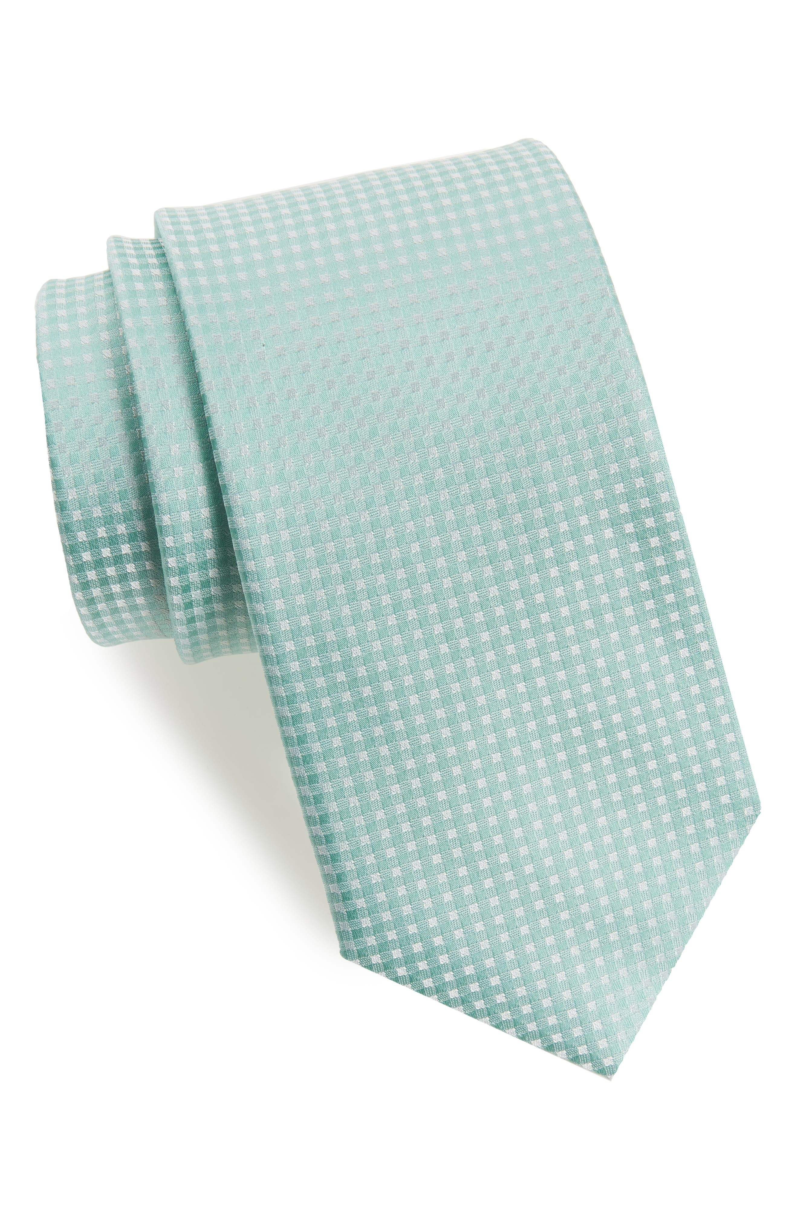 Be Married Check Silk Tie,                         Main,                         color, 333