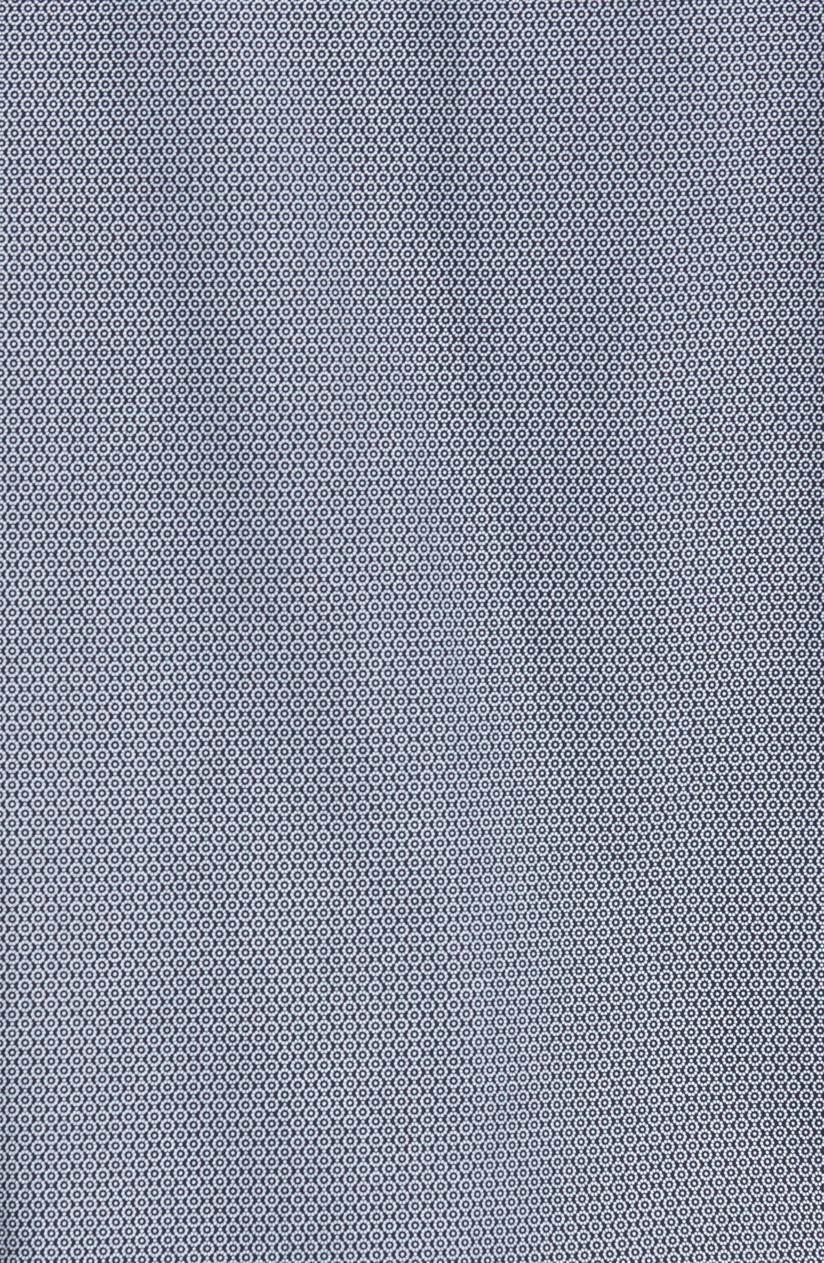 Slim Fit Non-Iron Dot Print Sport Shirt,                             Alternate thumbnail 5, color,                             410