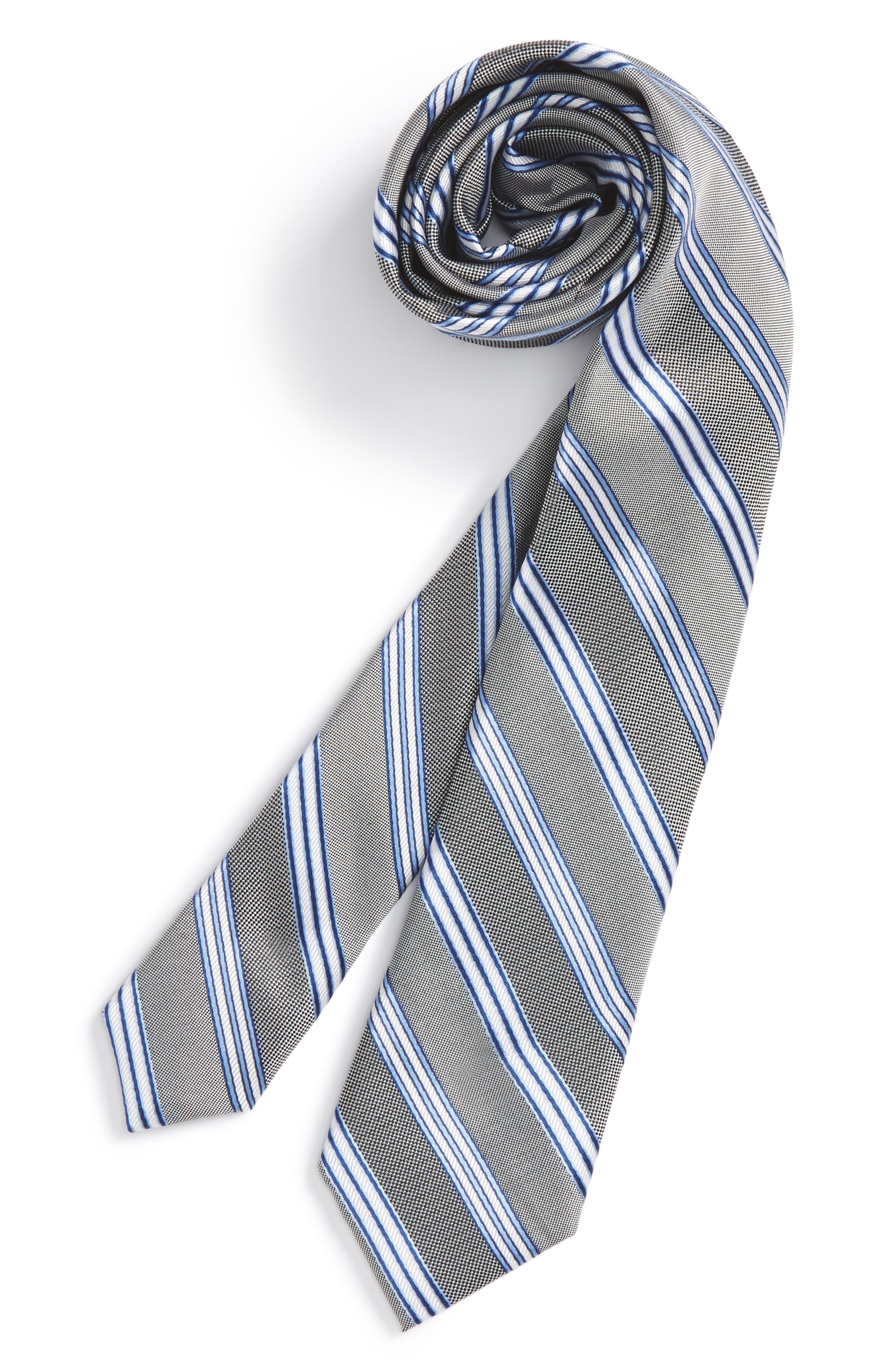 Stripe Silk Tie,                             Main thumbnail 1, color,                             001