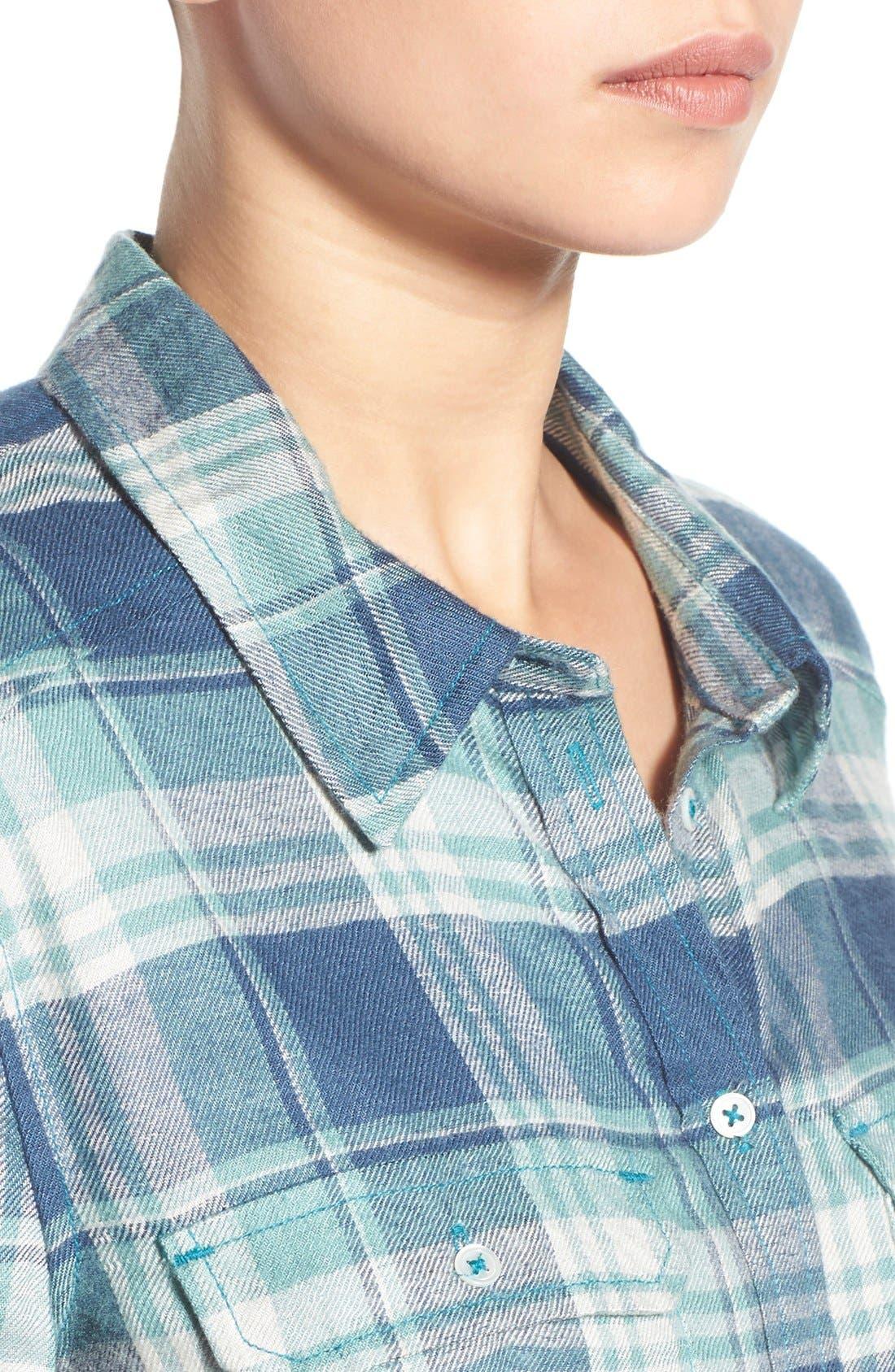 PAIGE,                             Denim 'Trudy' Plaid Shirt,                             Alternate thumbnail 2, color,                             423