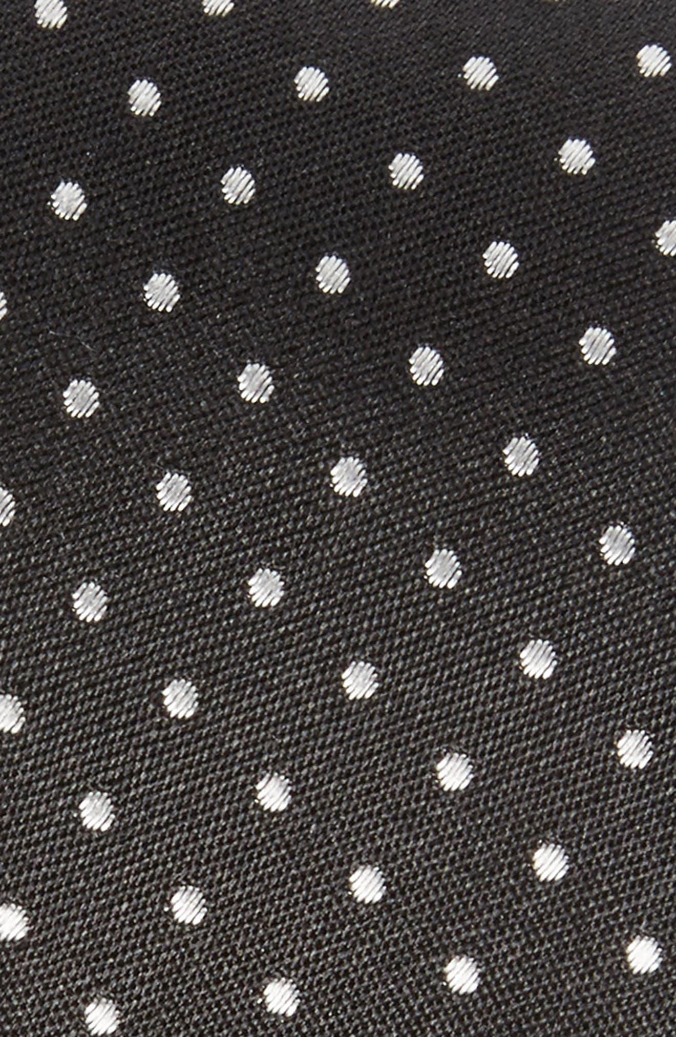 Dot Skinny Silk Tie,                             Alternate thumbnail 2, color,                             001