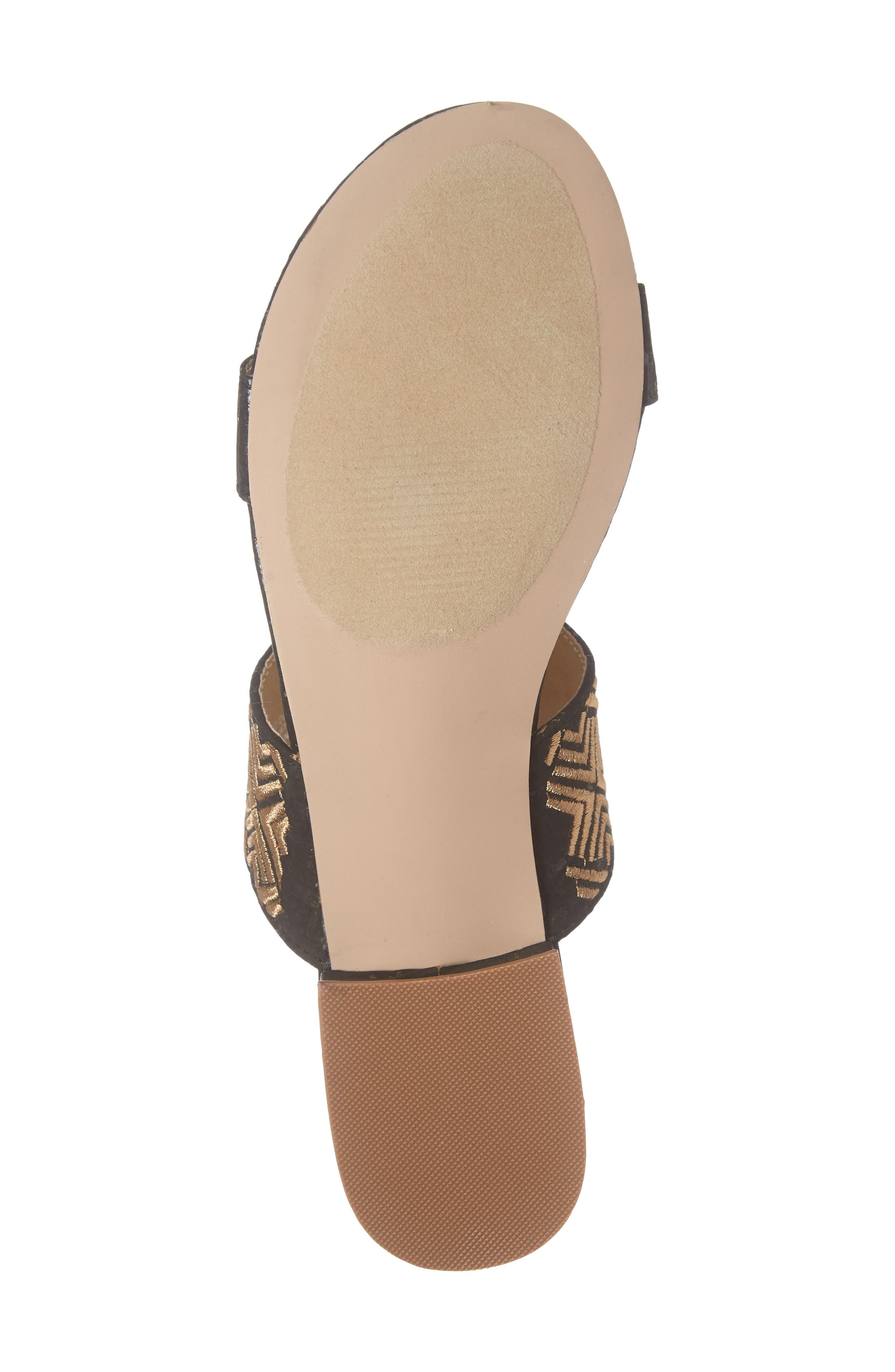 Valora Slide Sandal,                             Alternate thumbnail 6, color,                             BLACK FABRIC