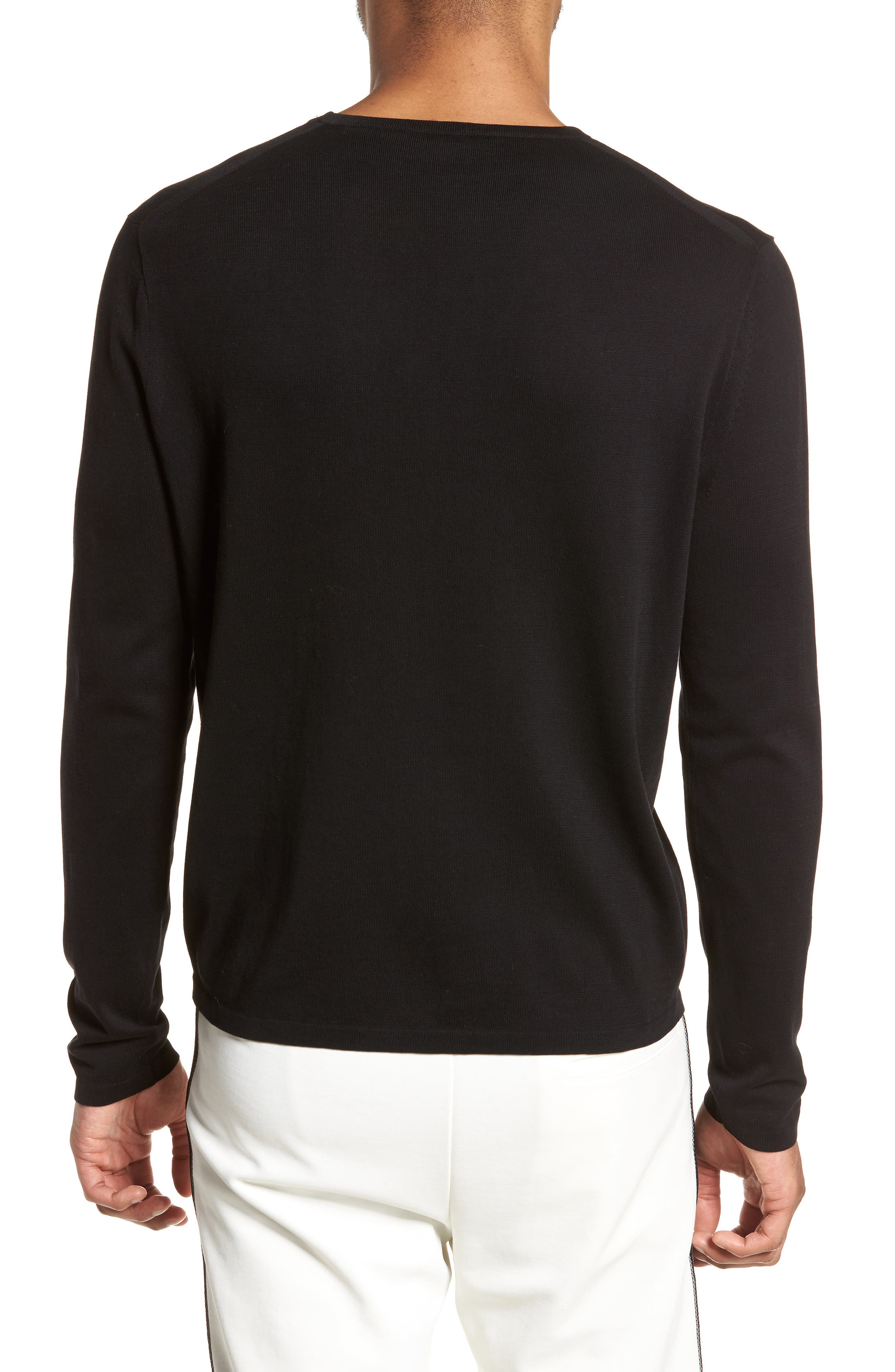 Long Sleeve Pocket T-Shirt,                             Alternate thumbnail 2, color,                             001