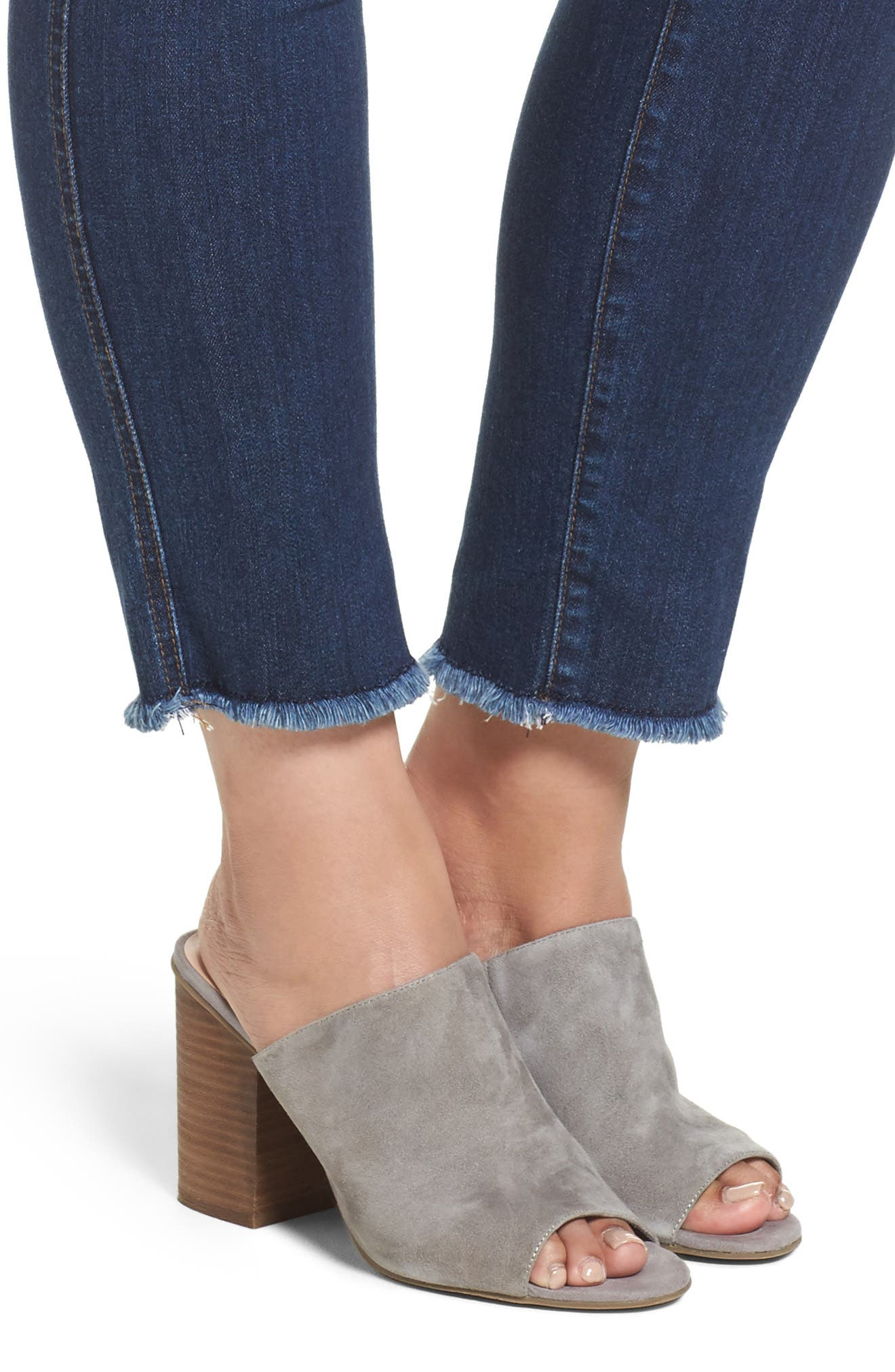 Reese Frayed Ankle Jeans,                             Alternate thumbnail 4, color,