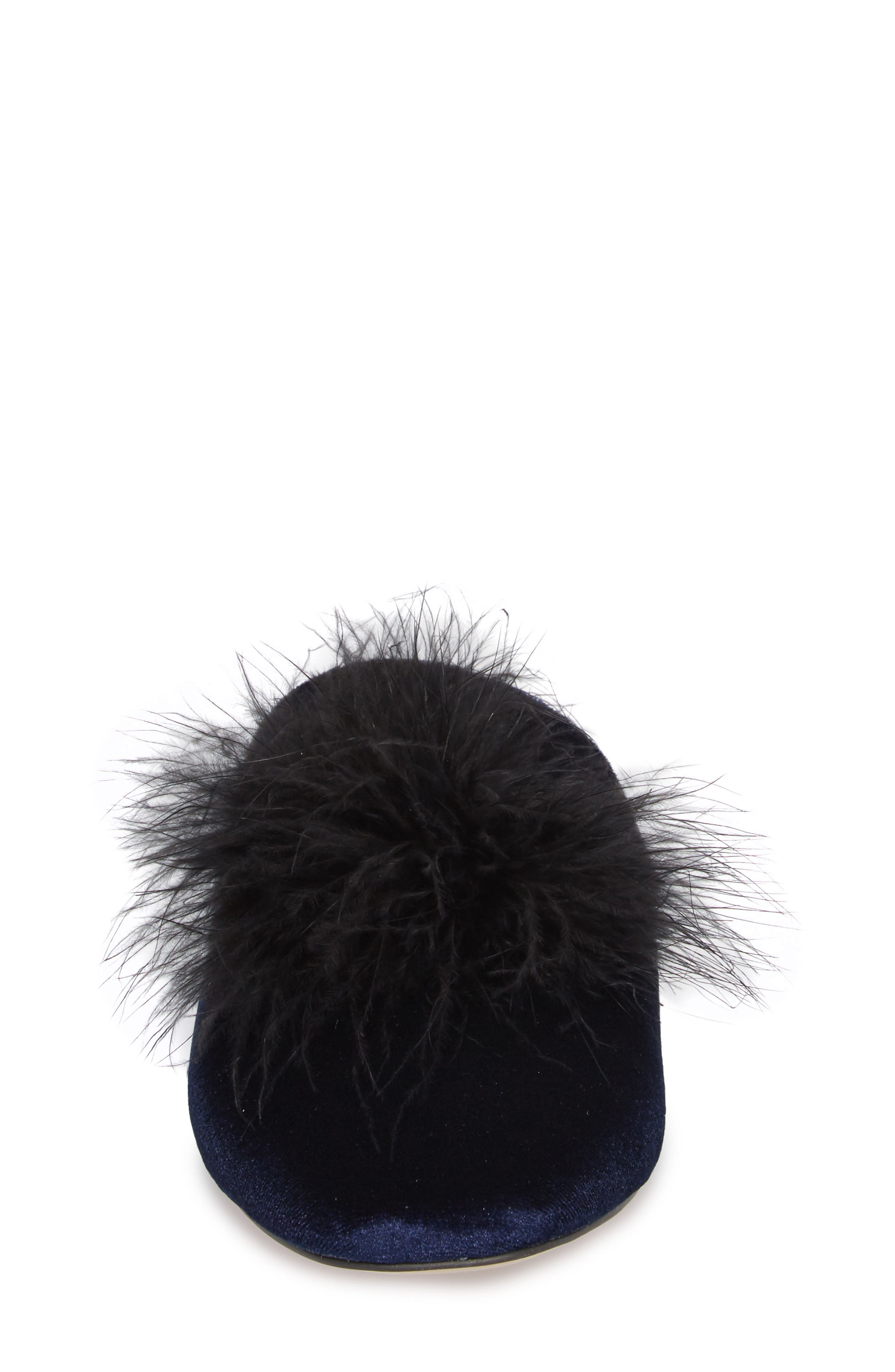 Cleona Feather Pompom Mule,                             Alternate thumbnail 8, color,