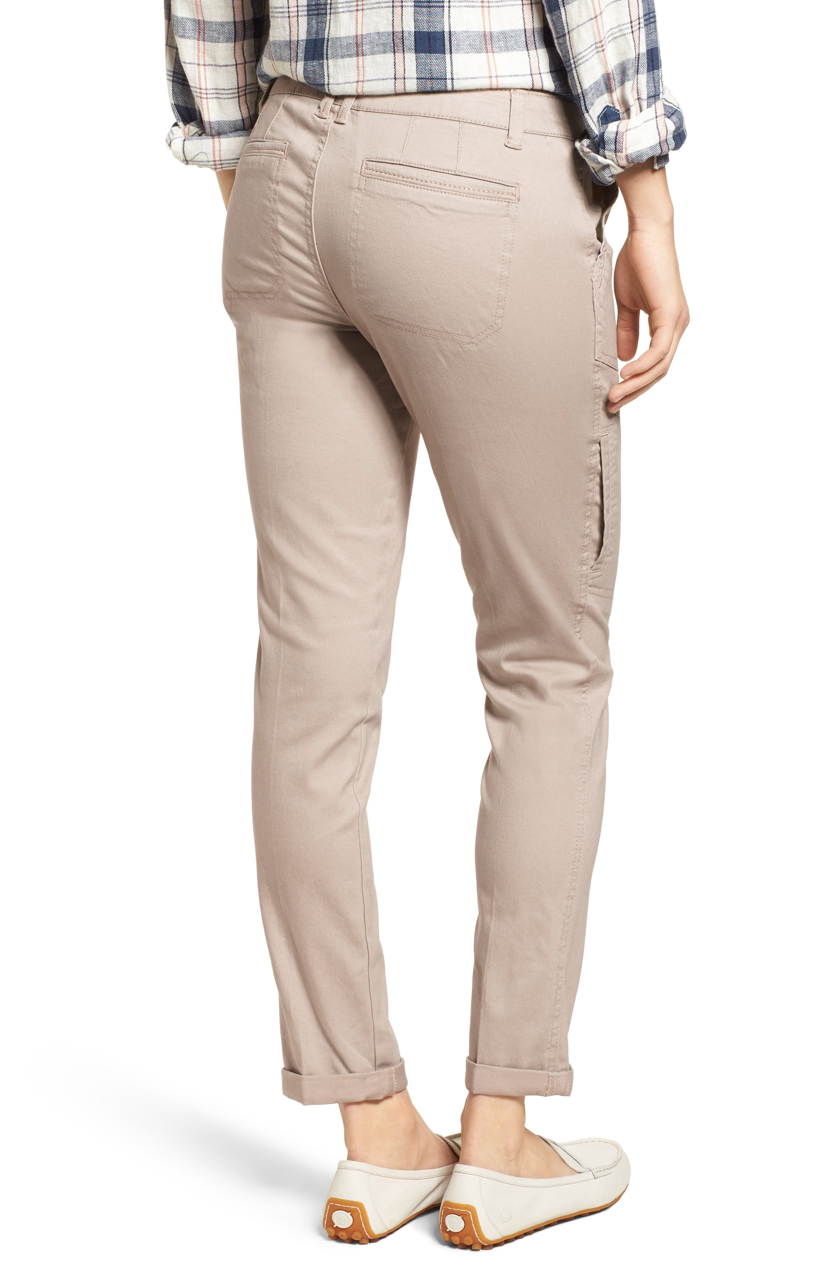 Twill Cargo Pants,                             Alternate thumbnail 2, color,                             FLAX