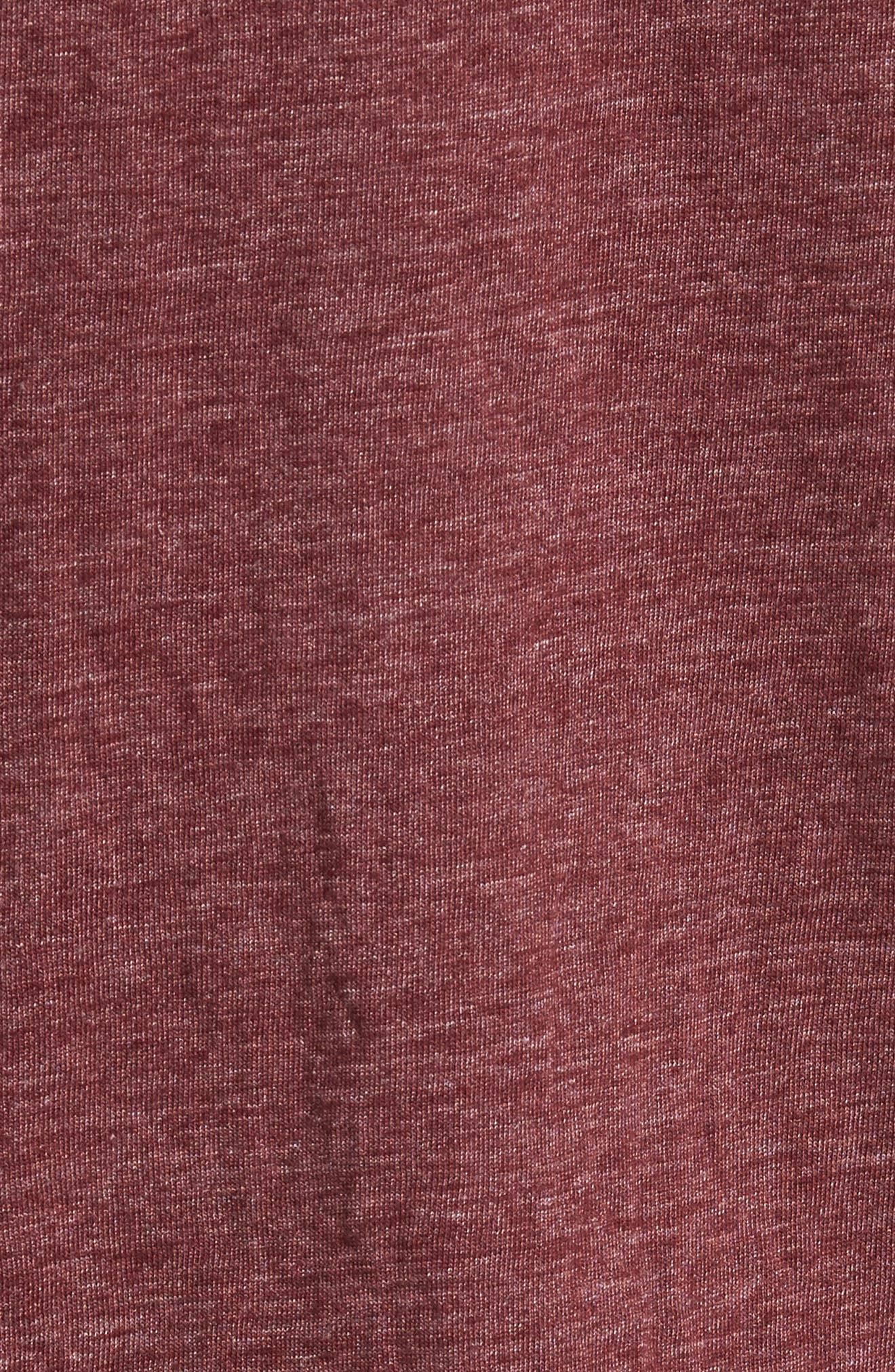 Scallop Triblend V-Neck T-Shirt,                             Alternate thumbnail 115, color,