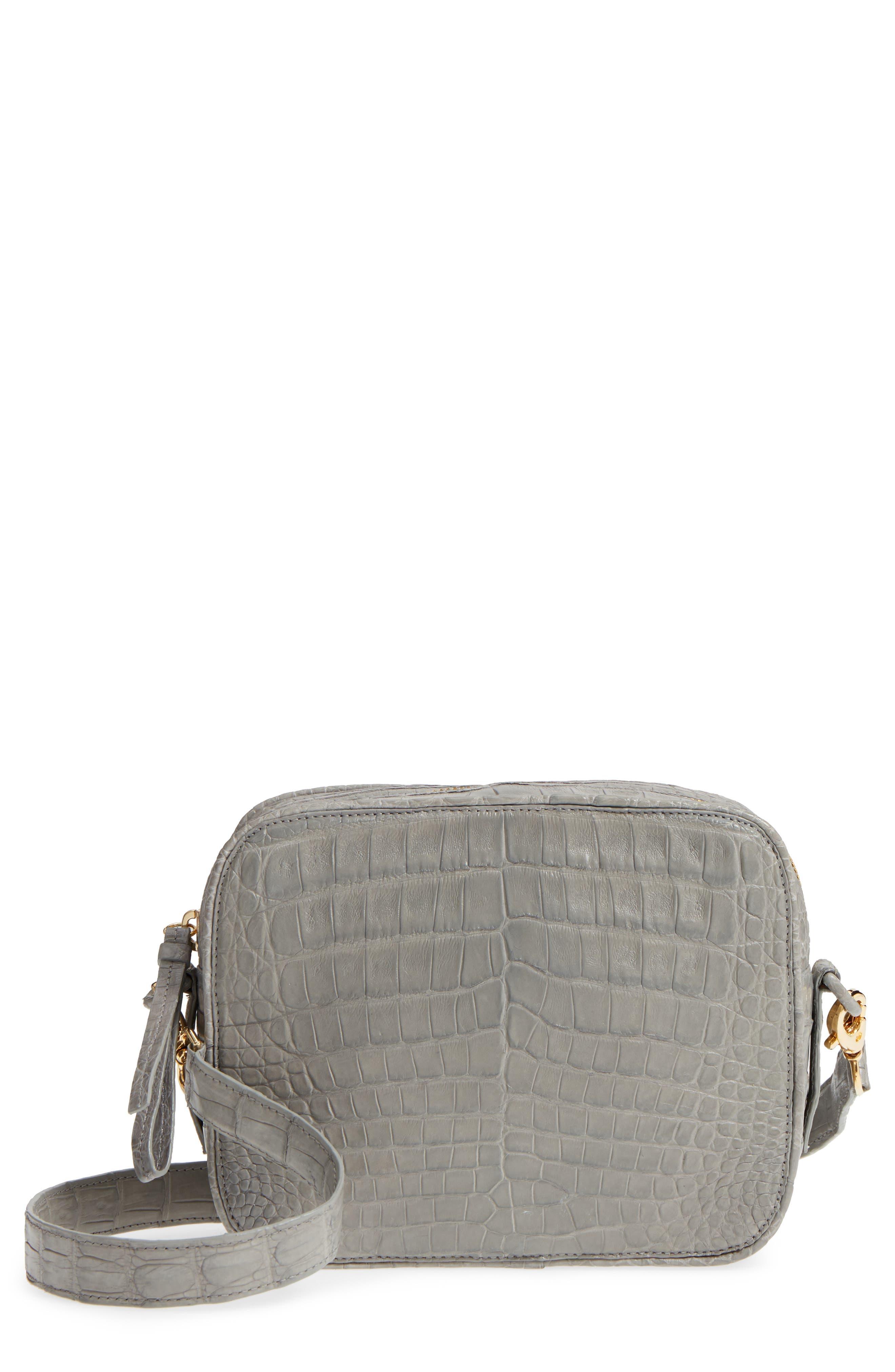 Genuine Crocodile Crossbody Bag,                         Main,                         color, 020