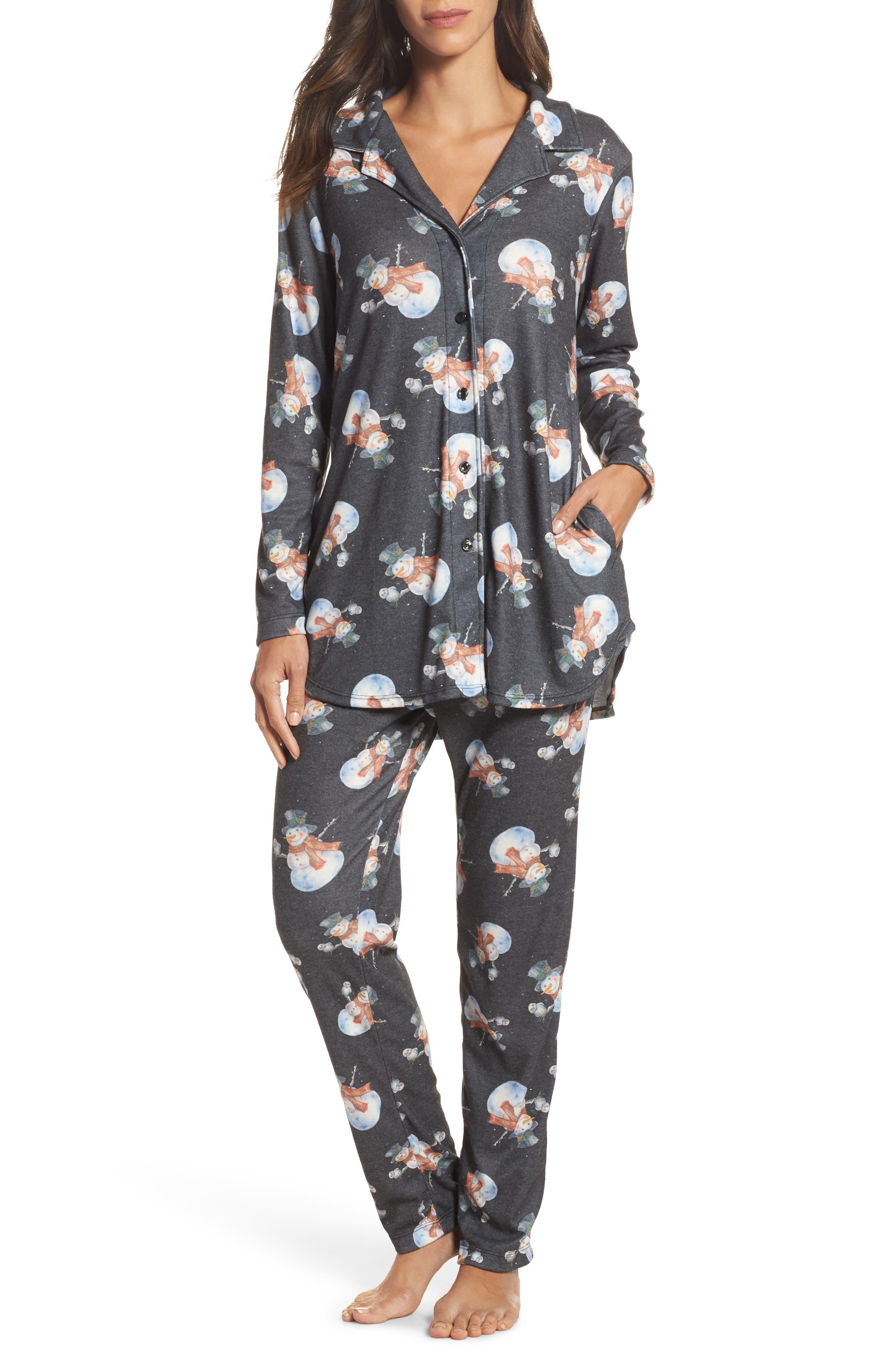 Clara Flannel Pajamas,                             Alternate thumbnail 6, color,                             001