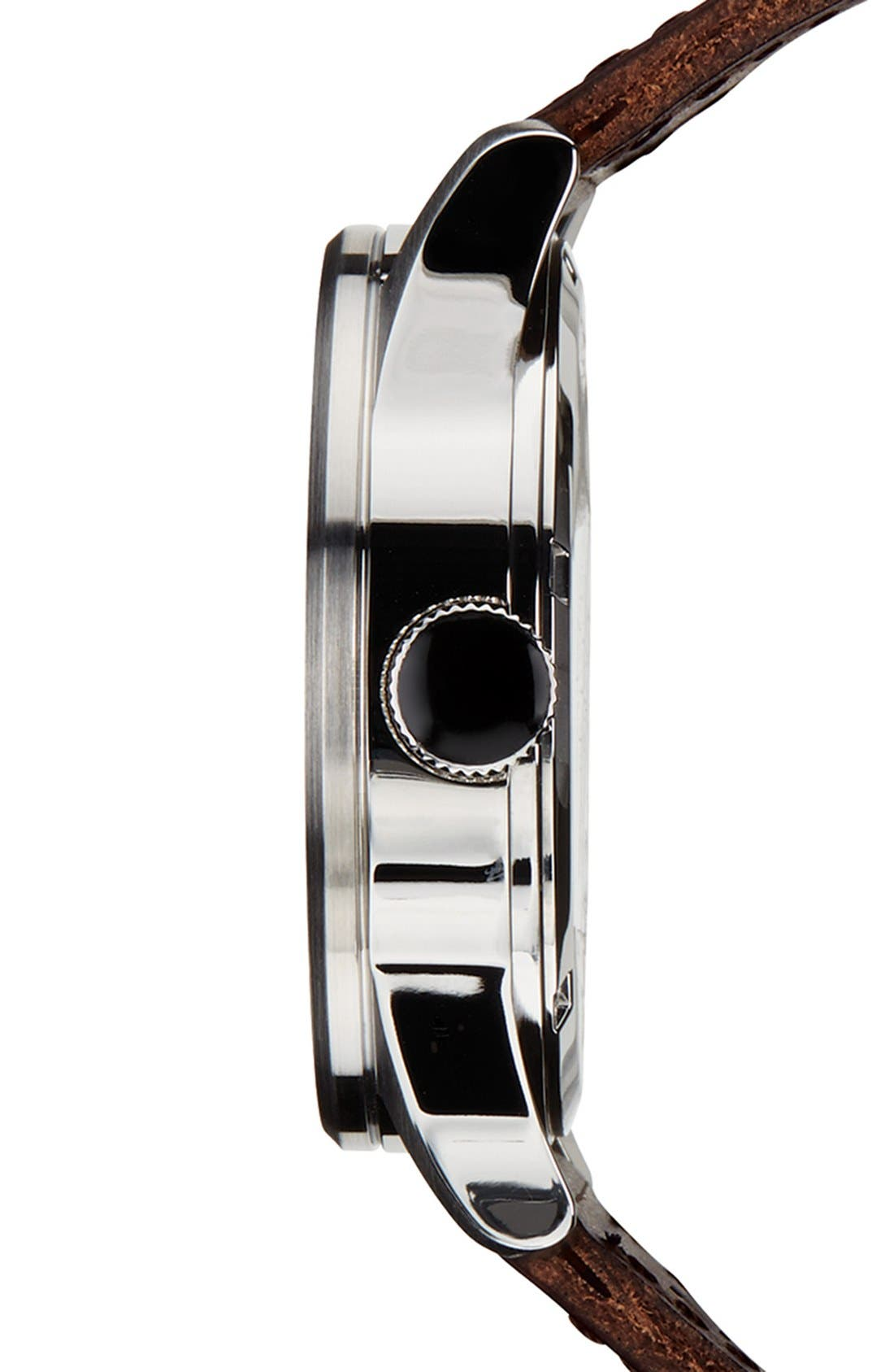 The Sentry Leather Strap Watch, 42mm,                             Alternate thumbnail 132, color,