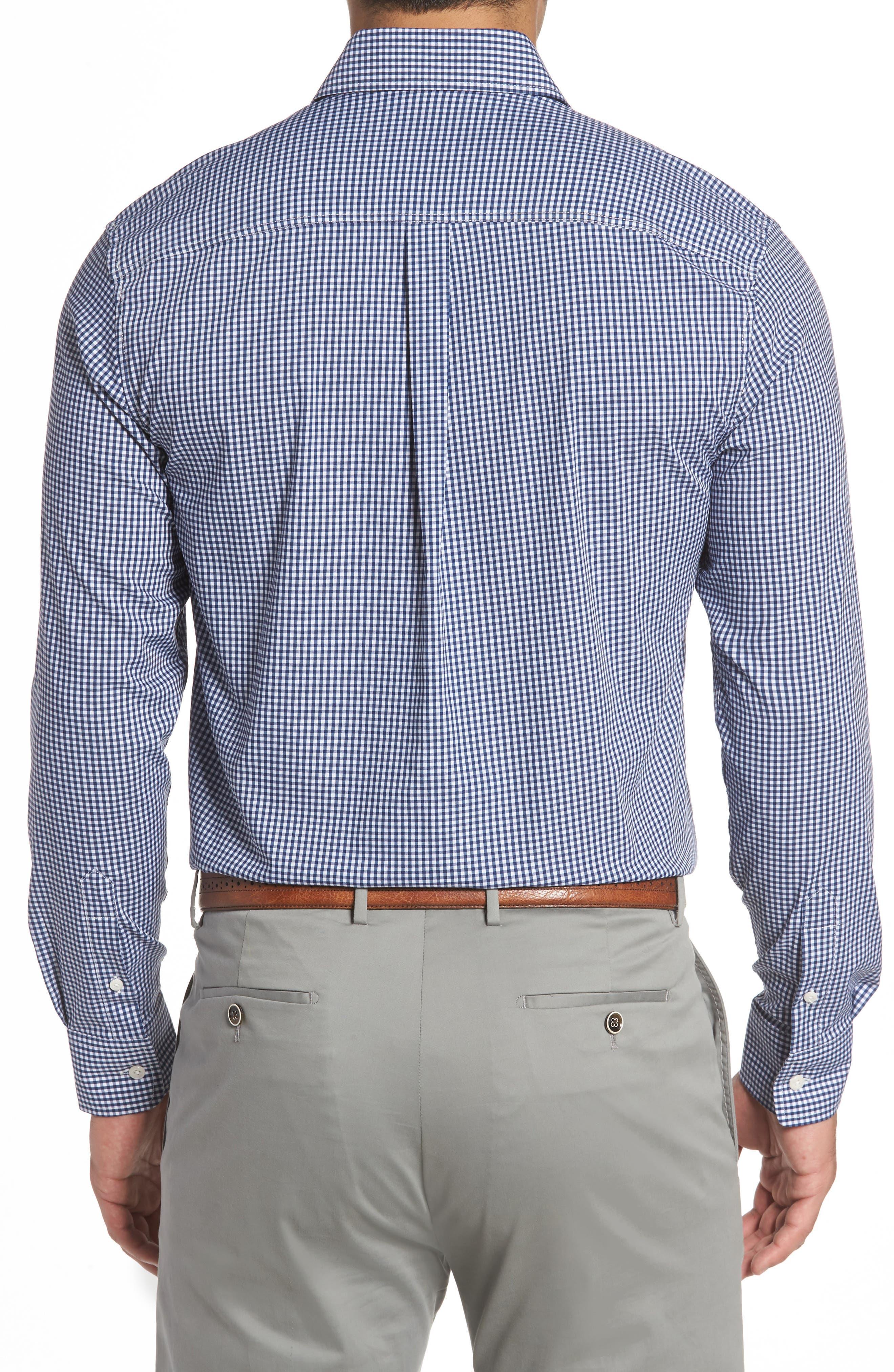 Augusta Classic Fit Check Sport Shirt,                             Alternate thumbnail 3, color,