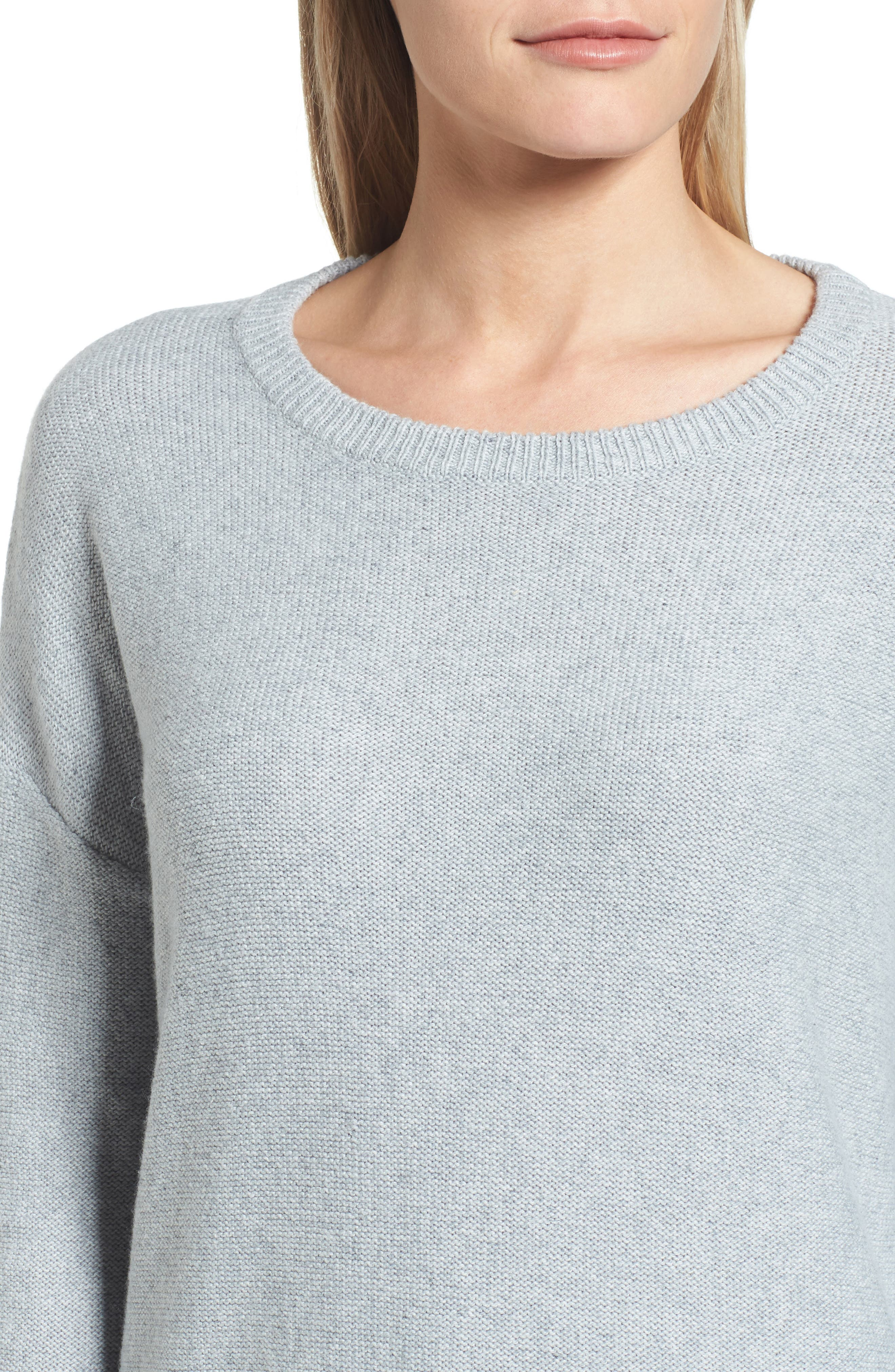 Contrast Cuff Crewneck Sweater,                             Alternate thumbnail 4, color,                             030