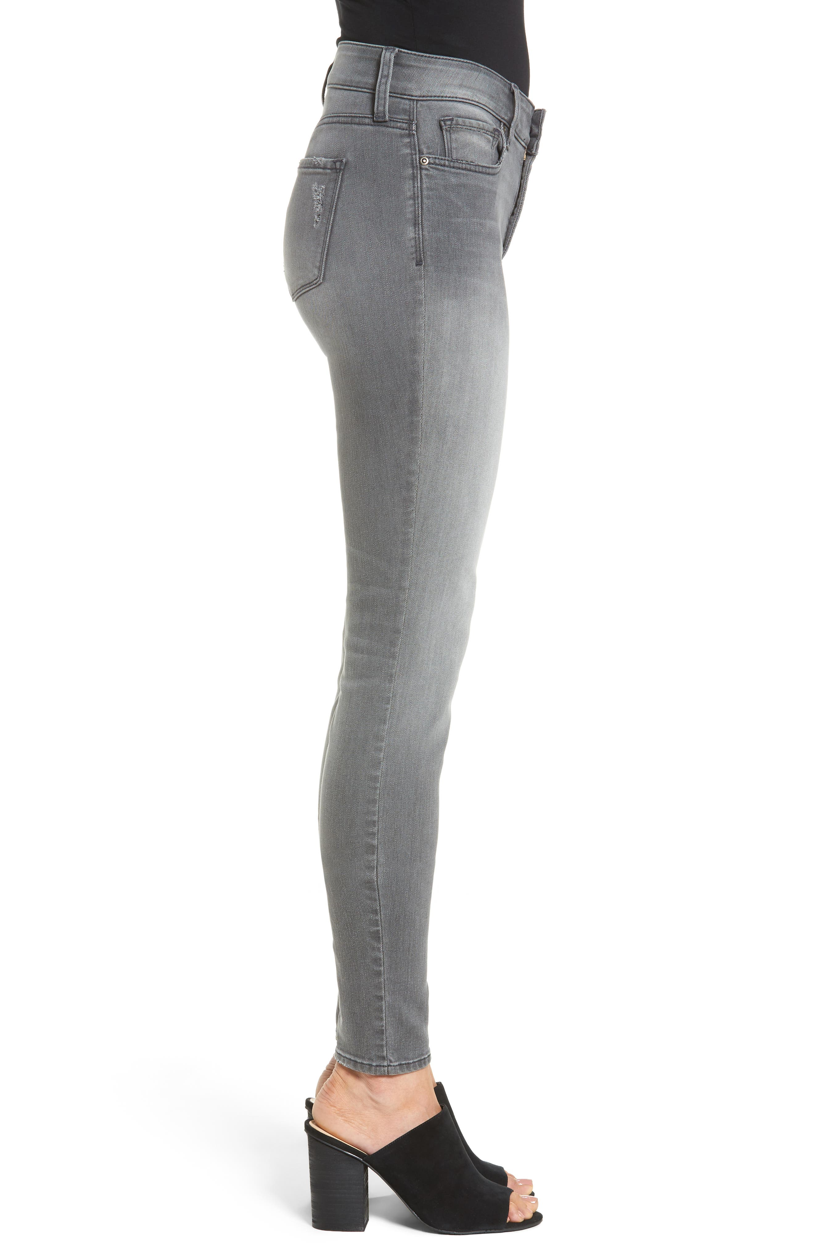 Ami Stretch Skinny Jeans,                             Alternate thumbnail 3, color,                             035