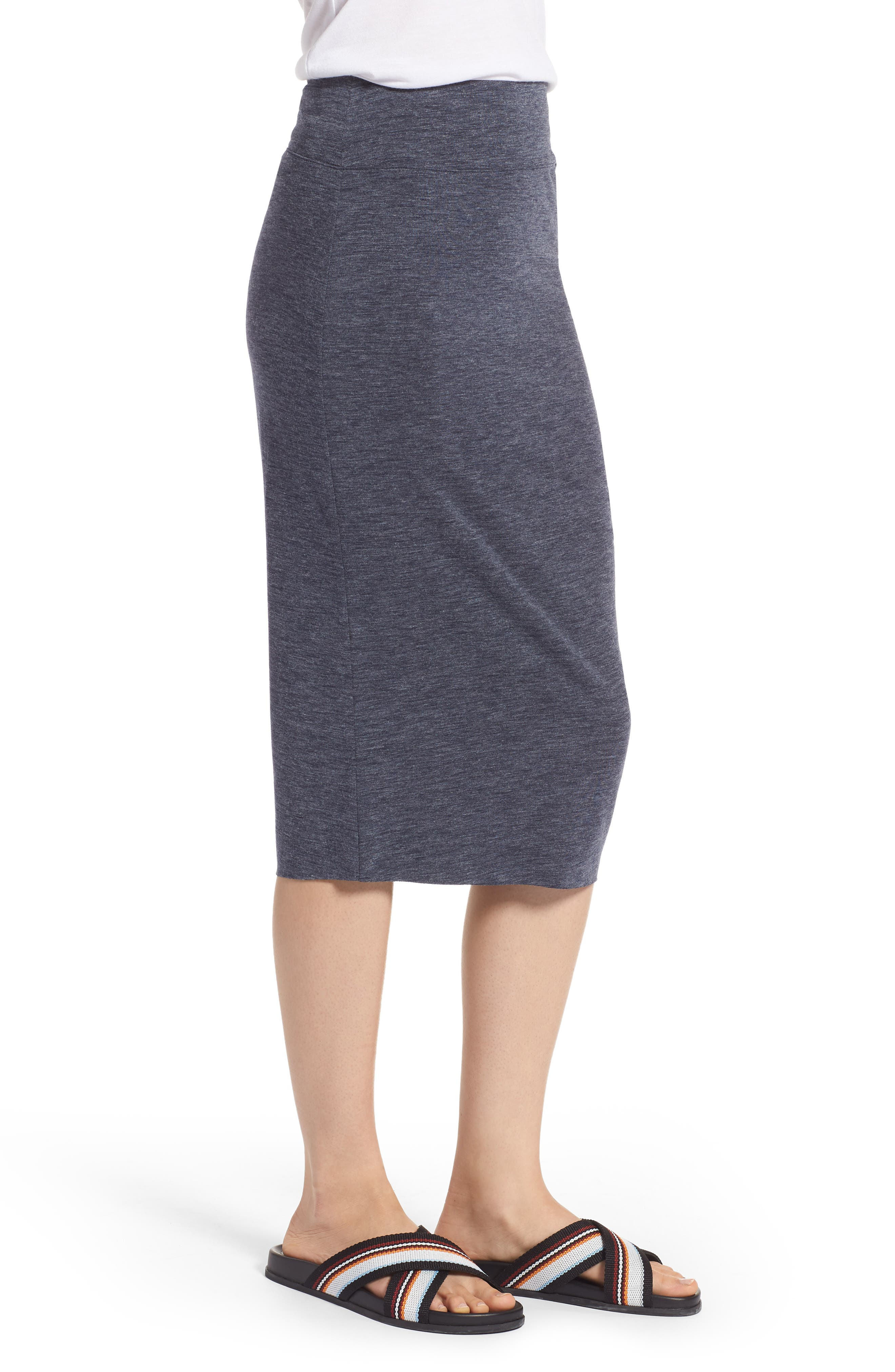 Ruched Knit Midi Skirt,                             Alternate thumbnail 6, color,