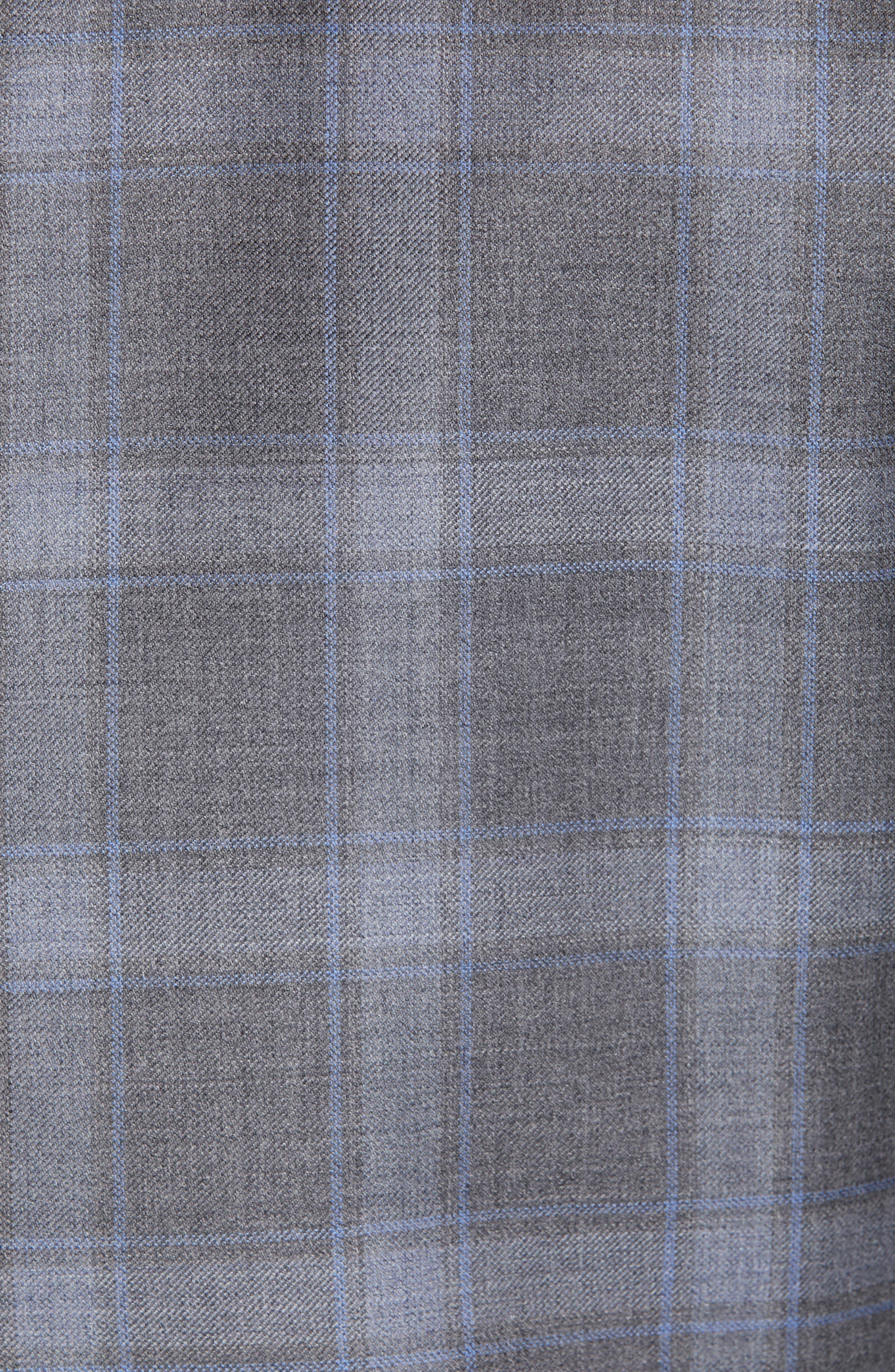Sienna Classic Fit Plaid Wool Sport Coat,                             Alternate thumbnail 6, color,                             GREY