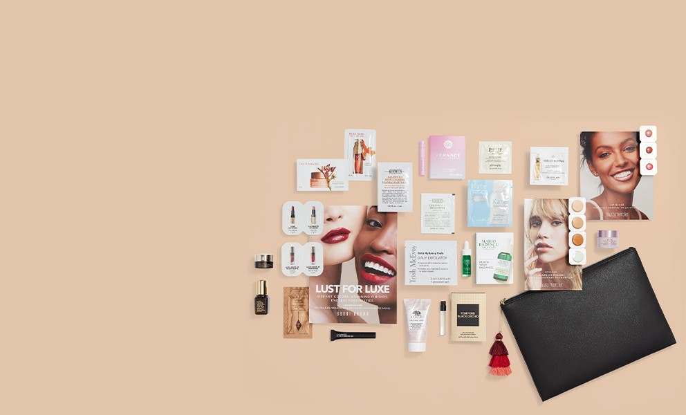 Free 18-piece gift with $100 beauty or fragrance purchase. Bonus gift.