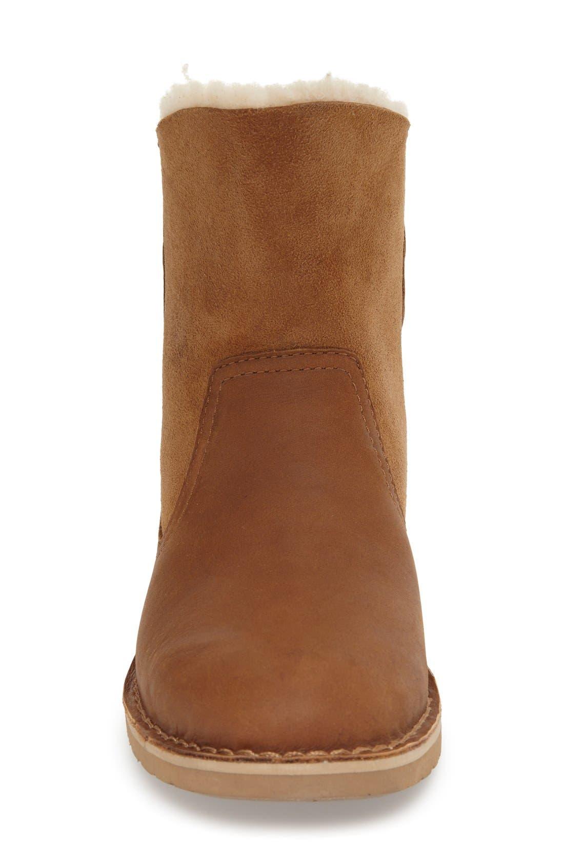 Naiyah Lace-Back Genuine Shearling Boot,                             Alternate thumbnail 2, color,                             219