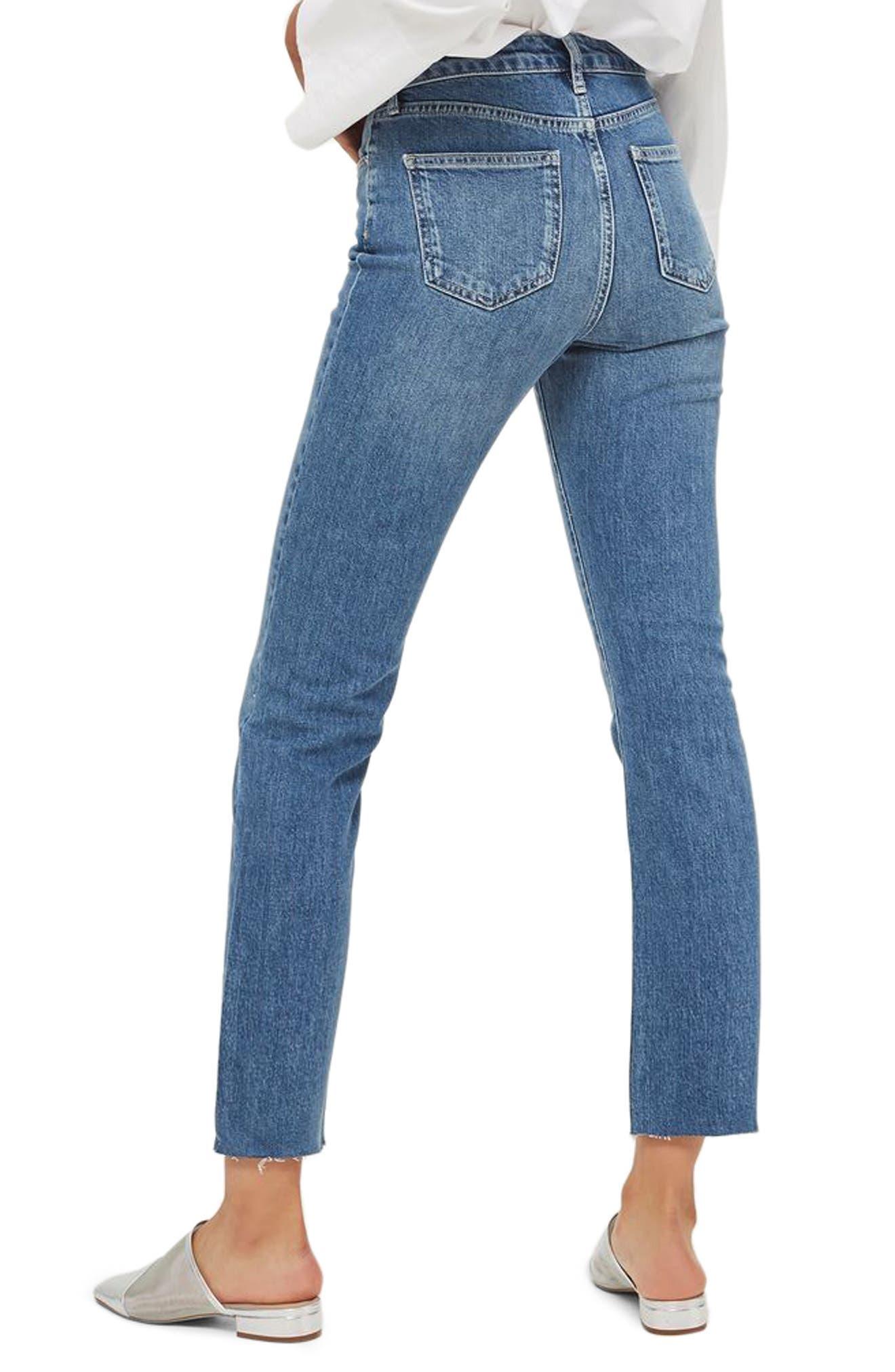 Dree Raw Hem Crop Flare Jeans,                             Alternate thumbnail 2, color,                             400