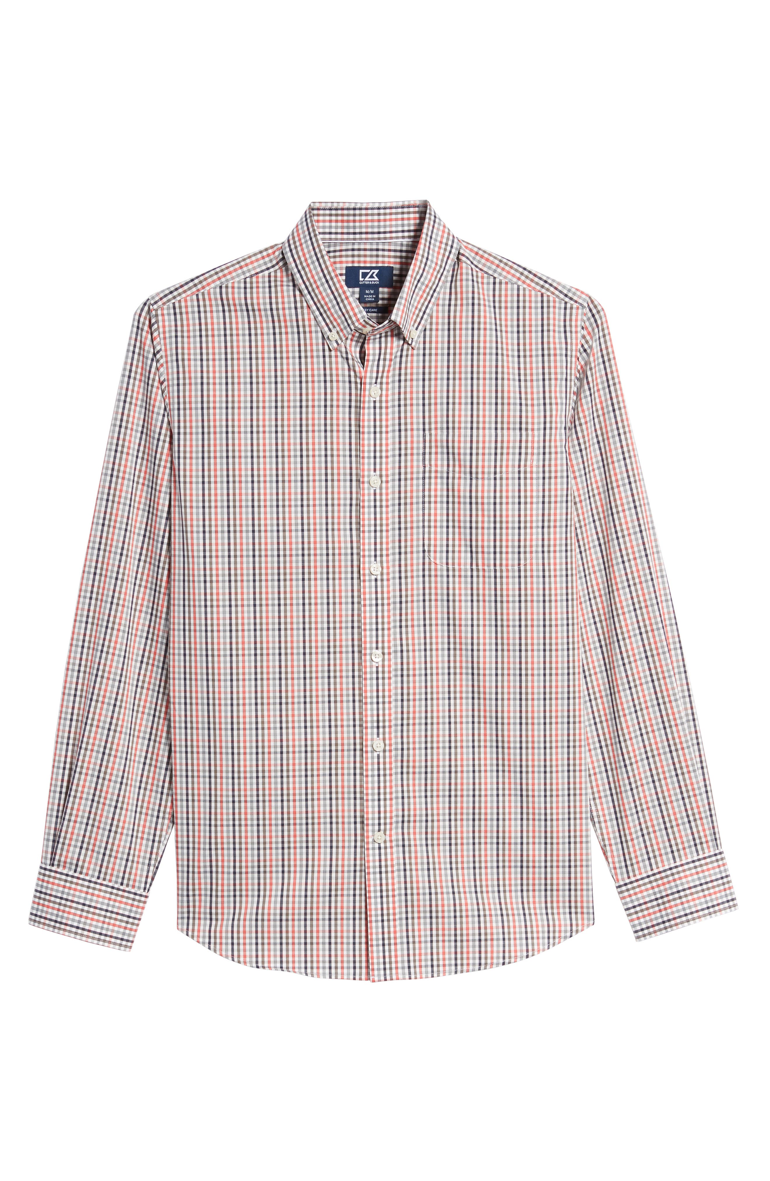 Baxter Epic Easy Care Classic Fit Plaid Sport Shirt,                             Alternate thumbnail 6, color,                             622