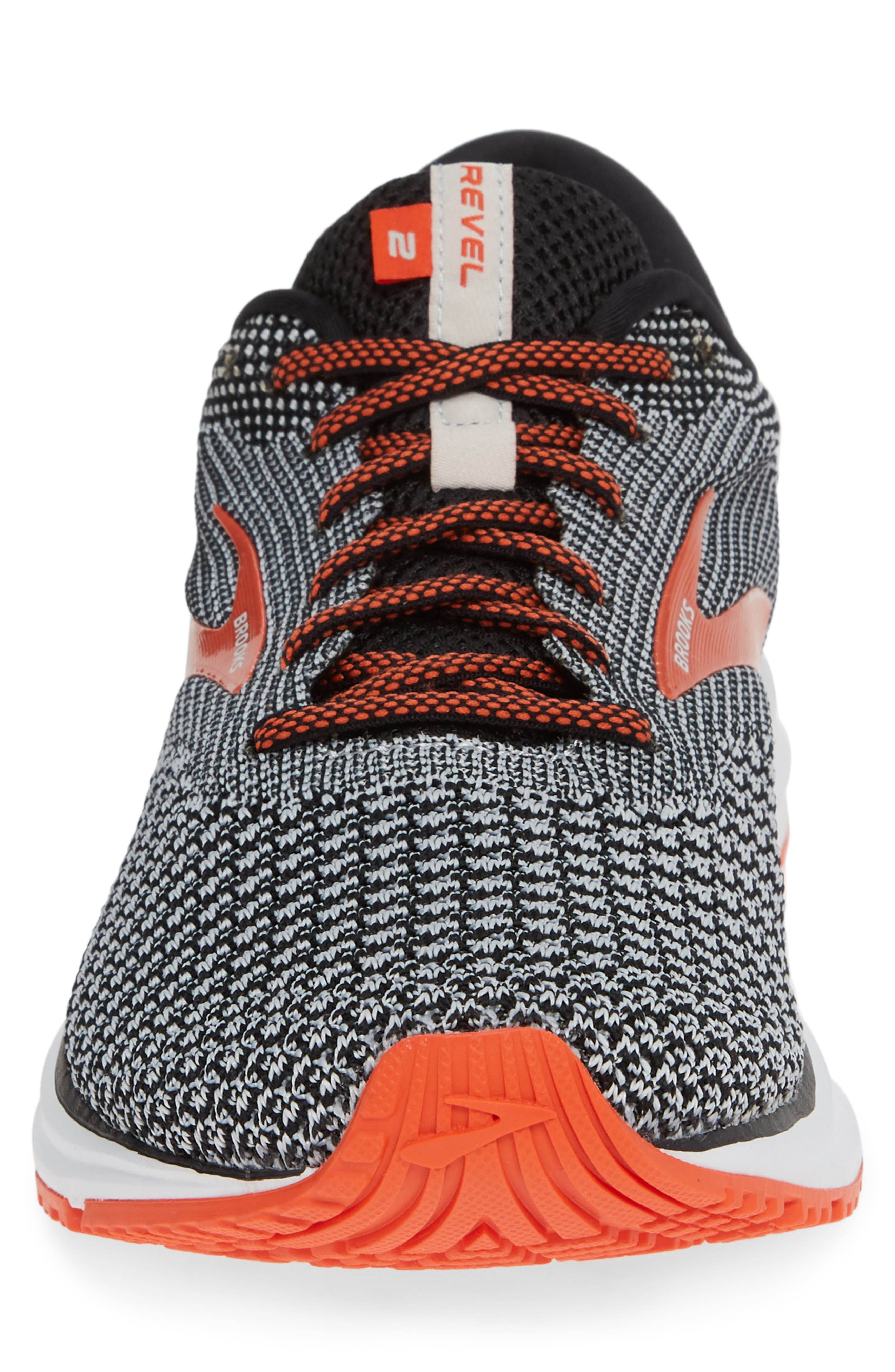 Revel 2 Running Shoe,                             Alternate thumbnail 4, color,                             BLACK/ LIGHT GREY/ ORANGE