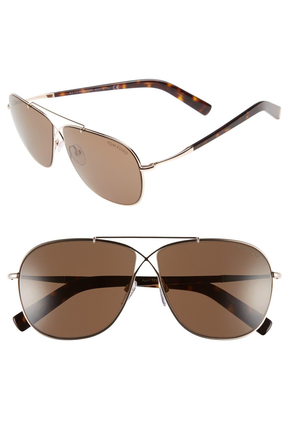 'April' 61mm Retro Sunglasses,                             Main thumbnail 2, color,