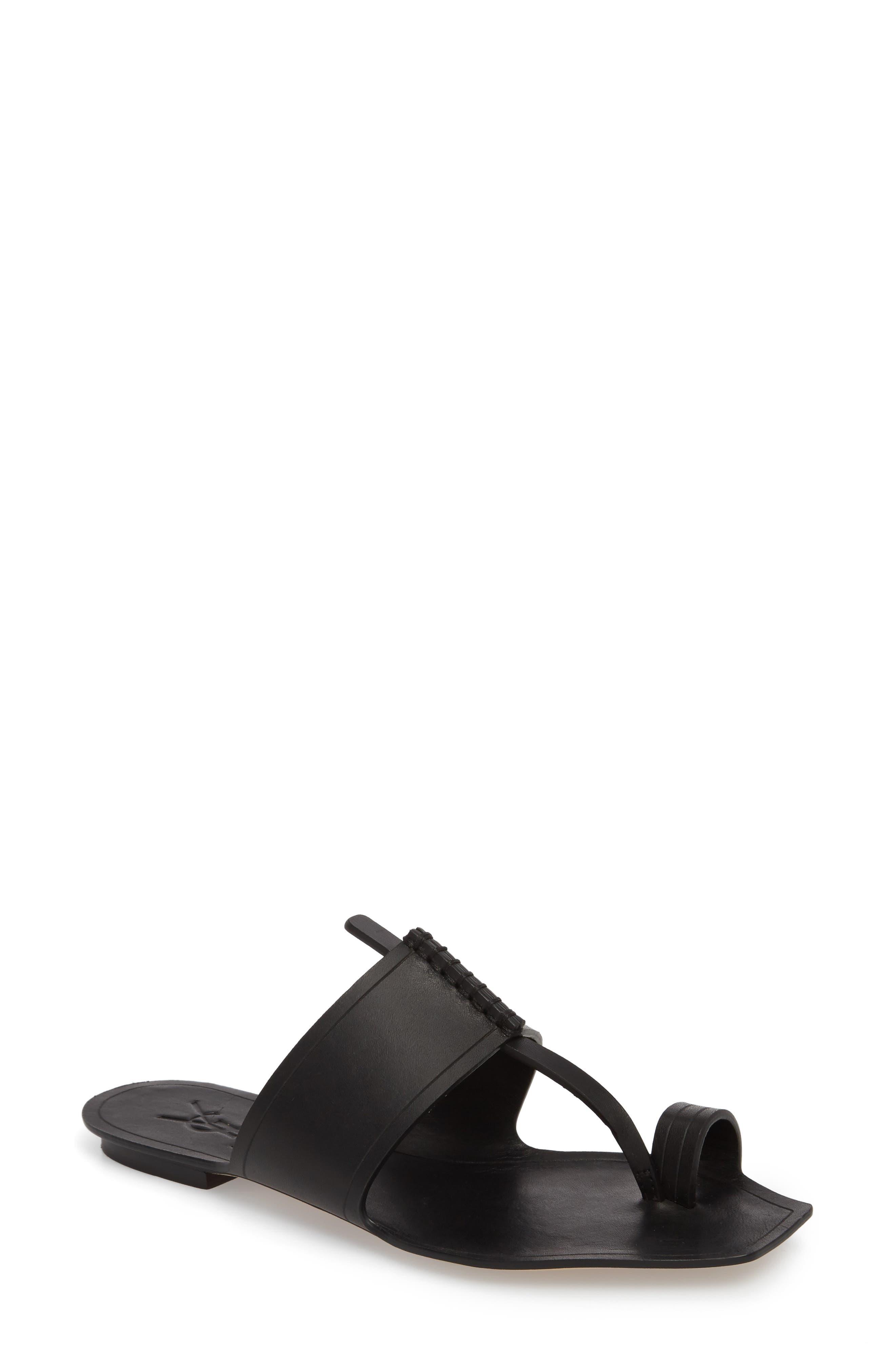 Toe Loop Sandal,                         Main,                         color, 001