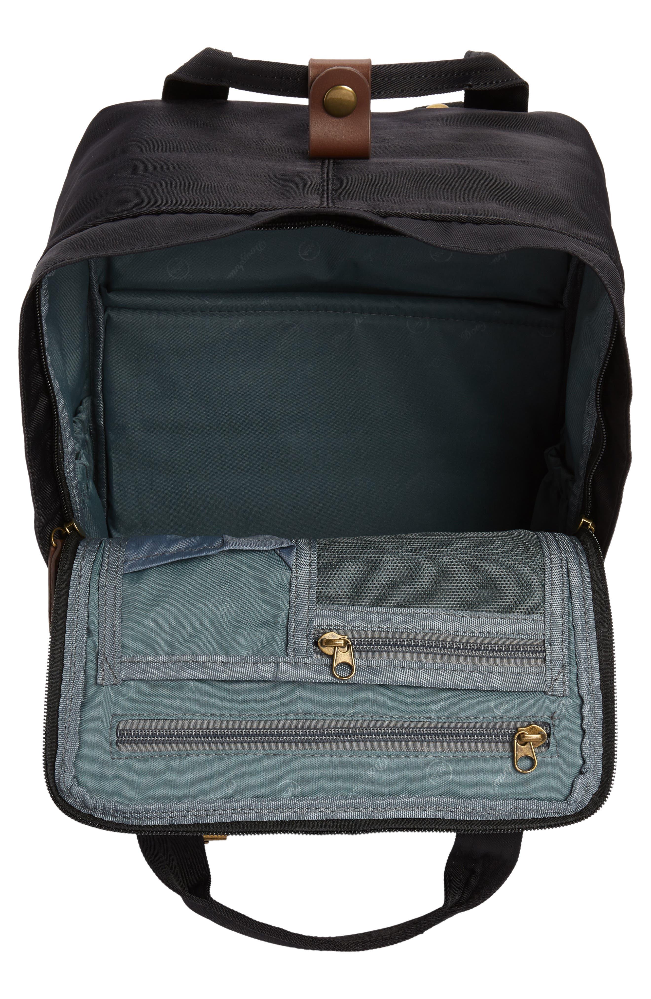 Macaroon Water Resistant Backpack,                             Alternate thumbnail 4, color,                             BLACK