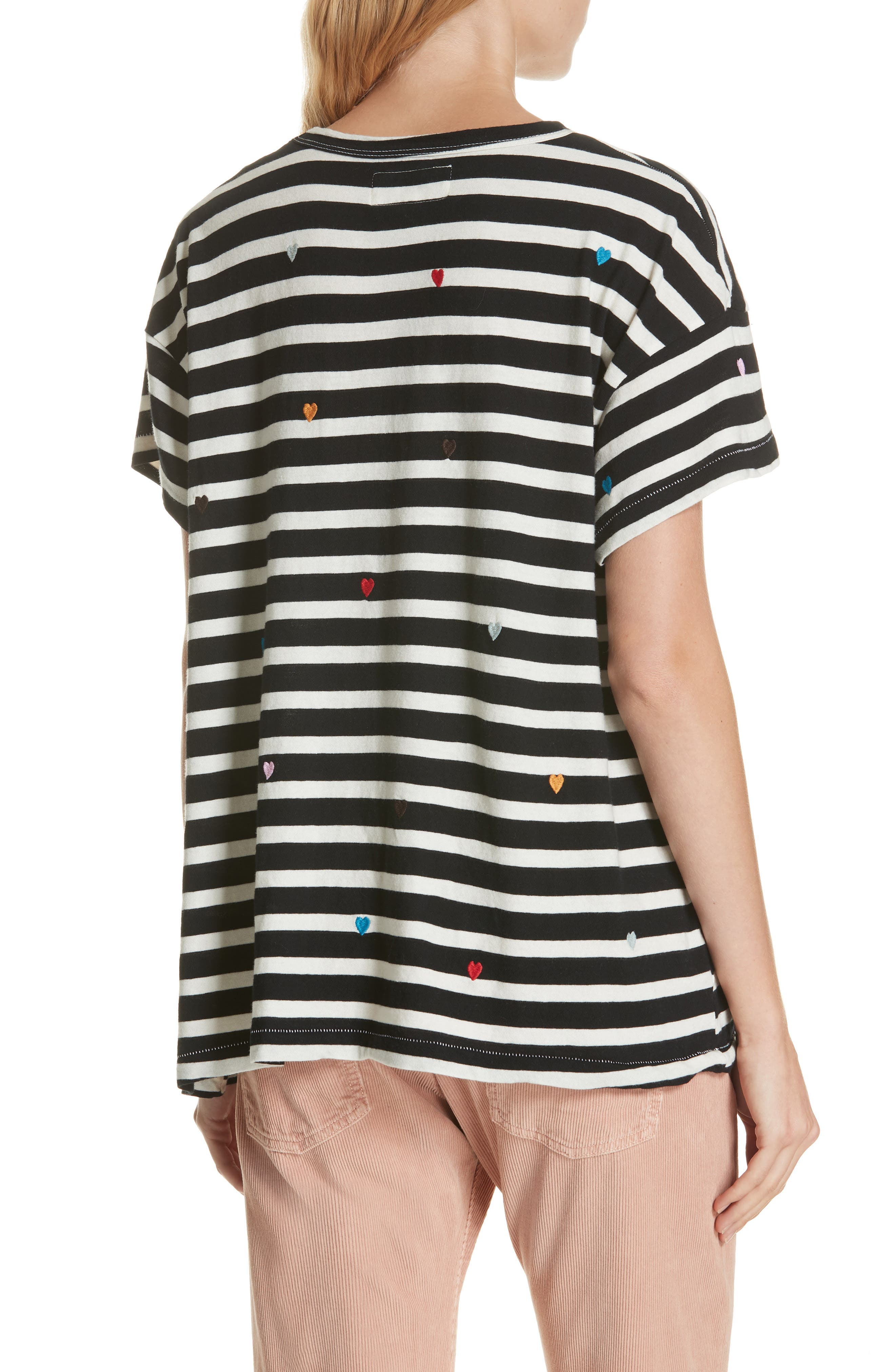 The Boxy Crew Embroidered Dot Tee,                             Alternate thumbnail 2, color,                             004
