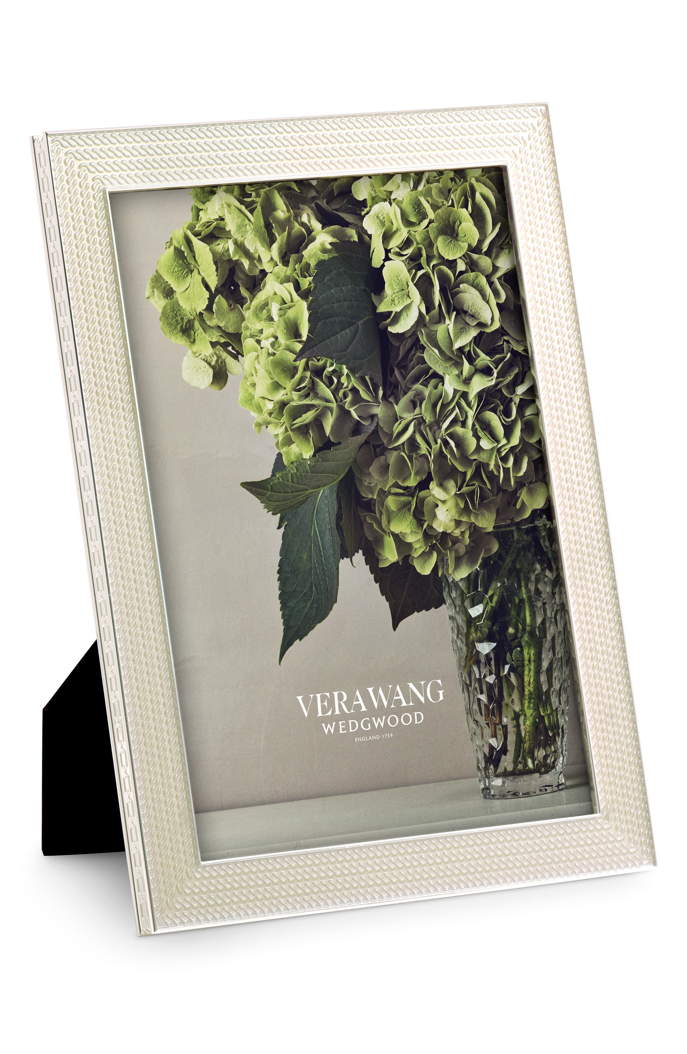 x Wedgwood With Love Nouveau Pearl Picture Frame,                             Main thumbnail 1, color,
