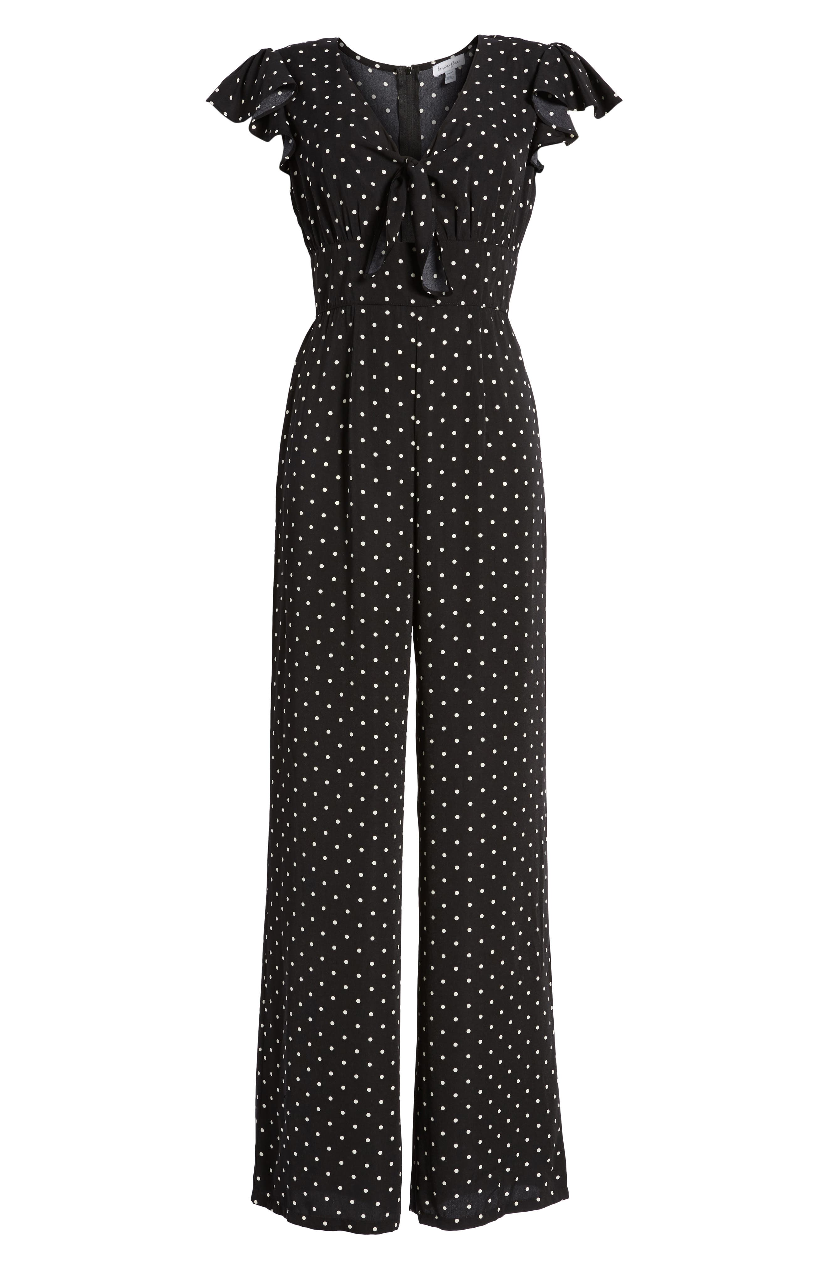 Tie Front Wide Leg Jumpsuit,                             Alternate thumbnail 11, color,