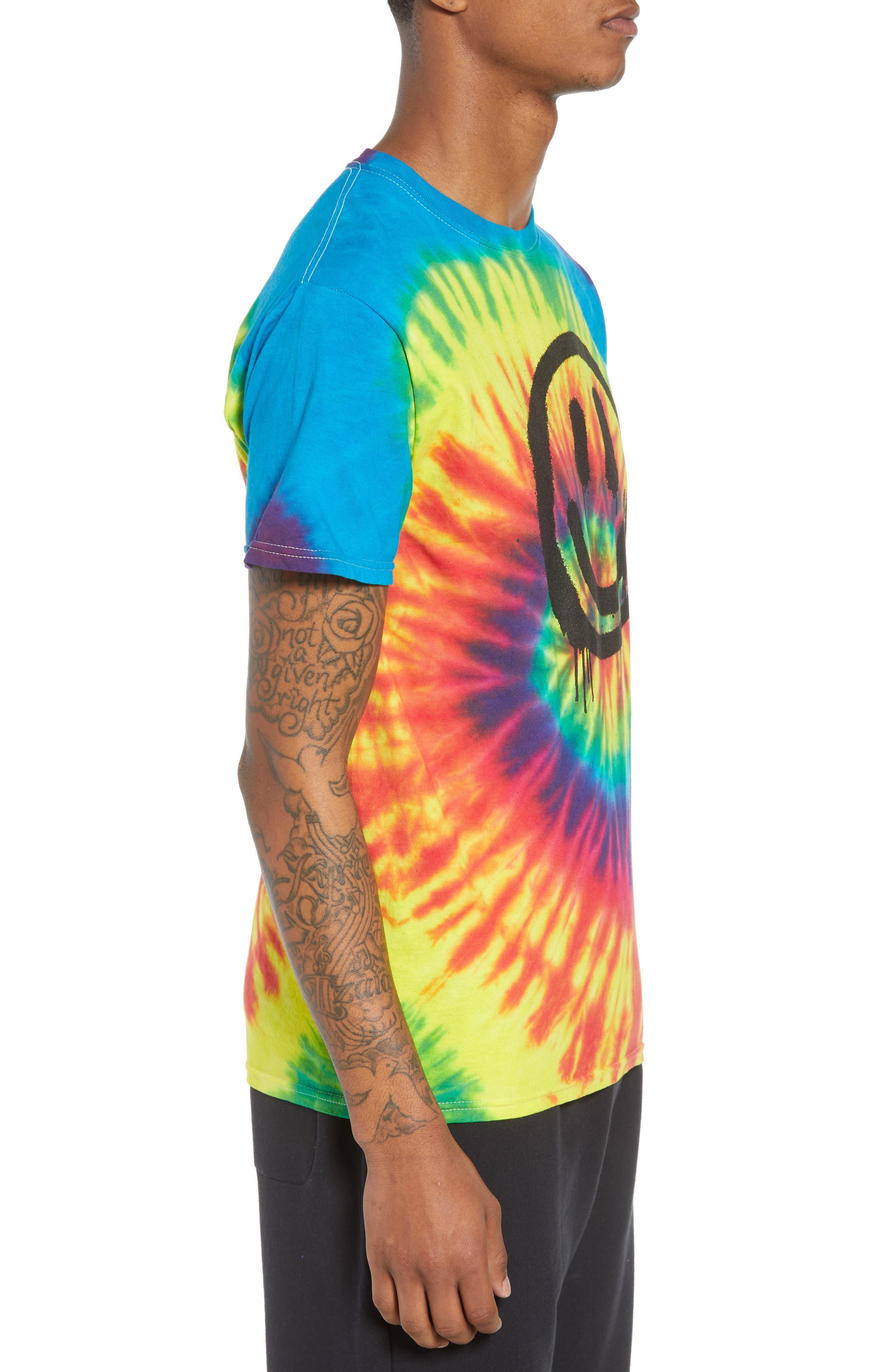 Tie Dye Smiley T-Shirt,                             Alternate thumbnail 3, color,                             960