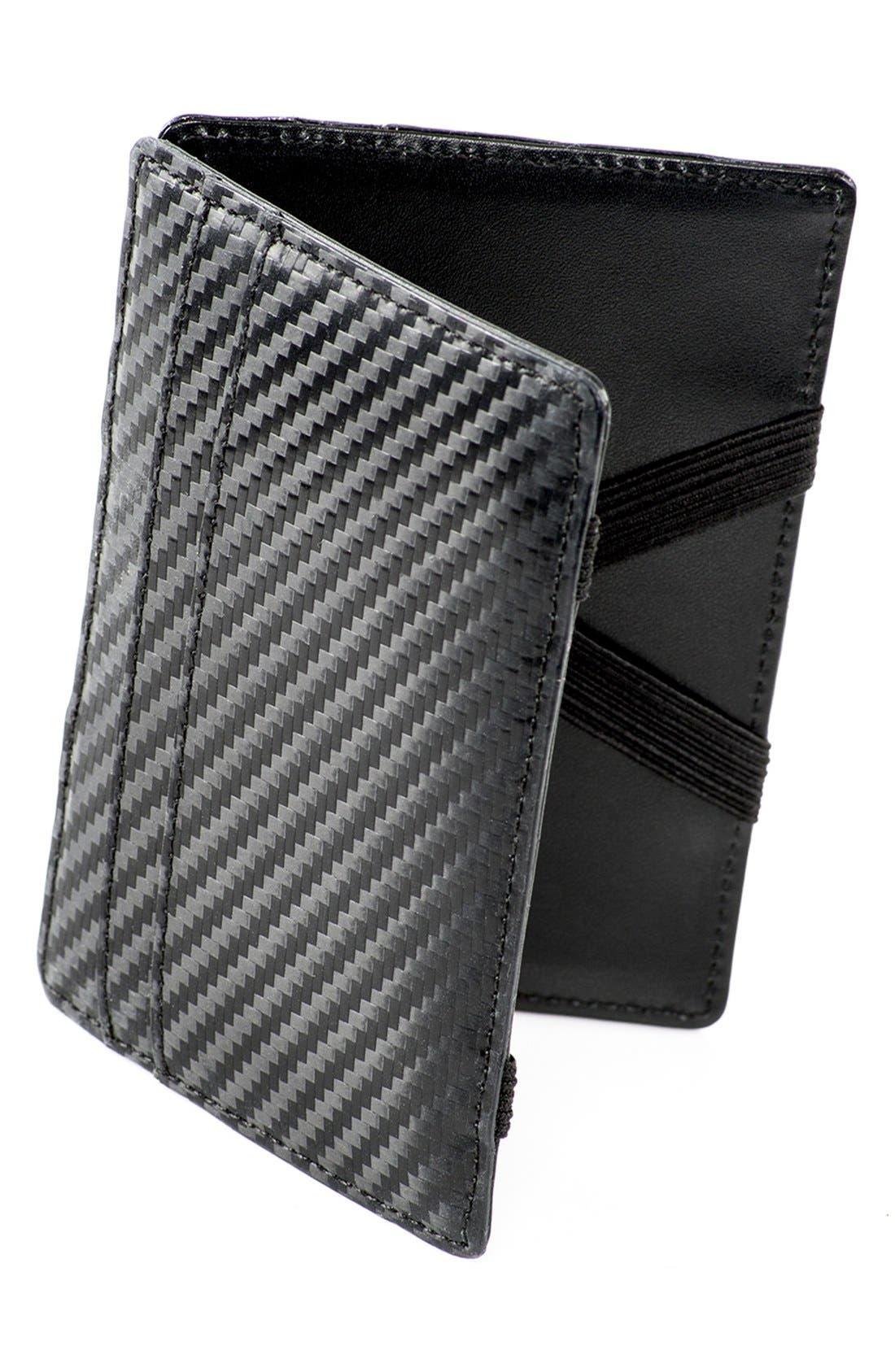 WürkinStiffs Leather RFIDWallet,                             Alternate thumbnail 3, color,                             001